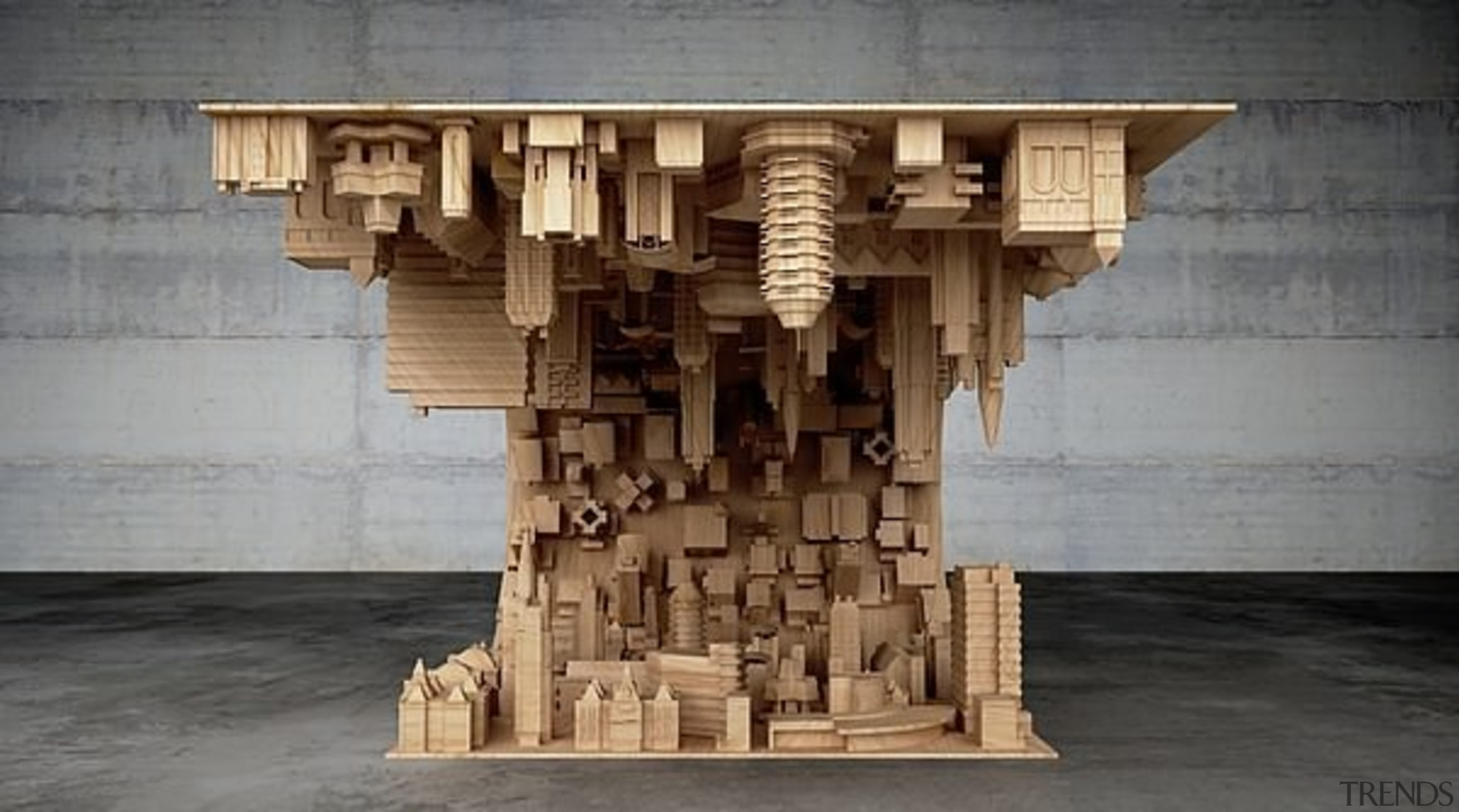The wave city coffee table - The wave ancient history, archaeological site, carving, column, sculpture, structure, temple, tourist attraction, wood, gray