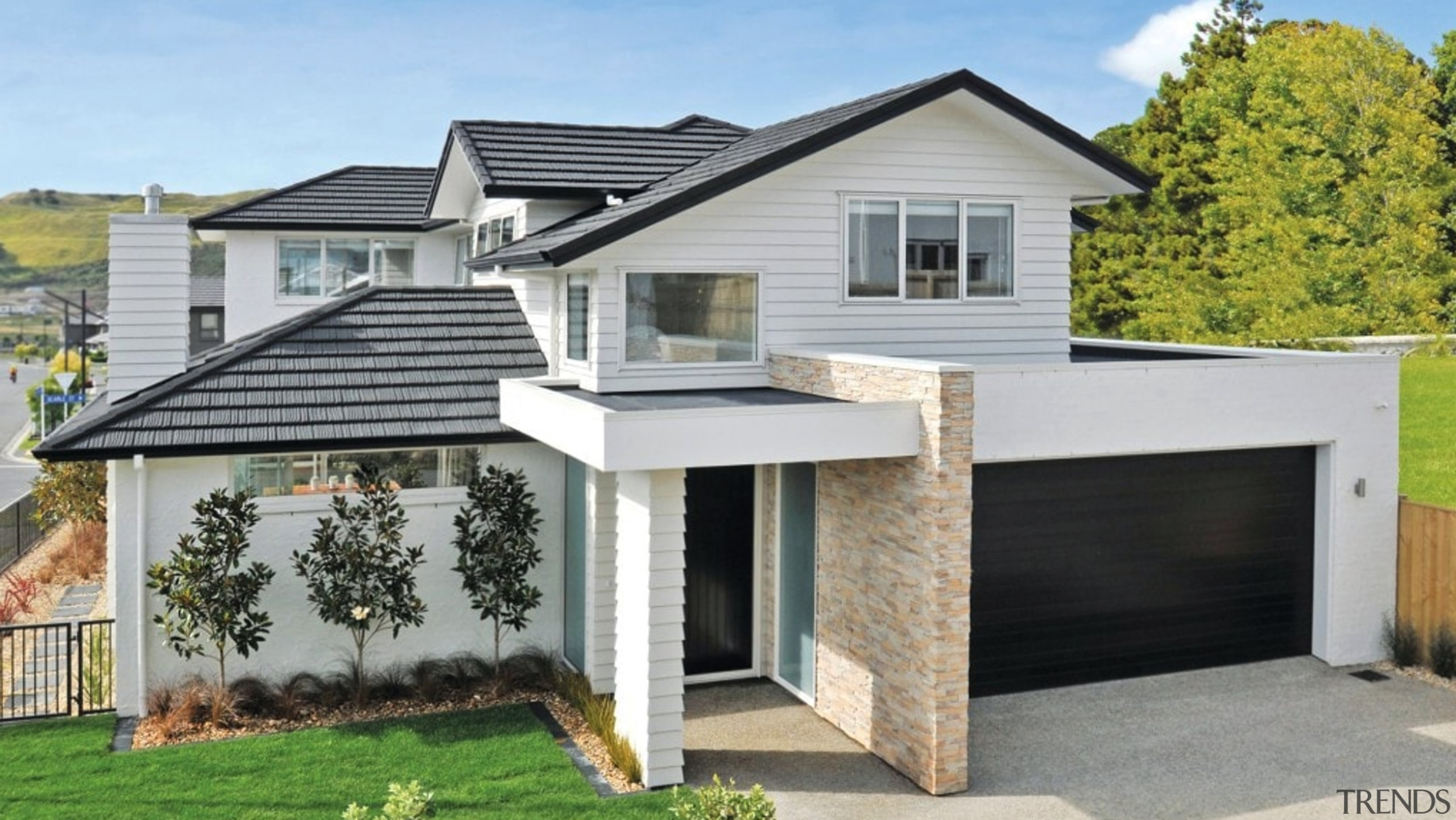 Shake - elevation | facade | home | elevation, facade, home, house, property, real estate, residential area, roof, siding, gray