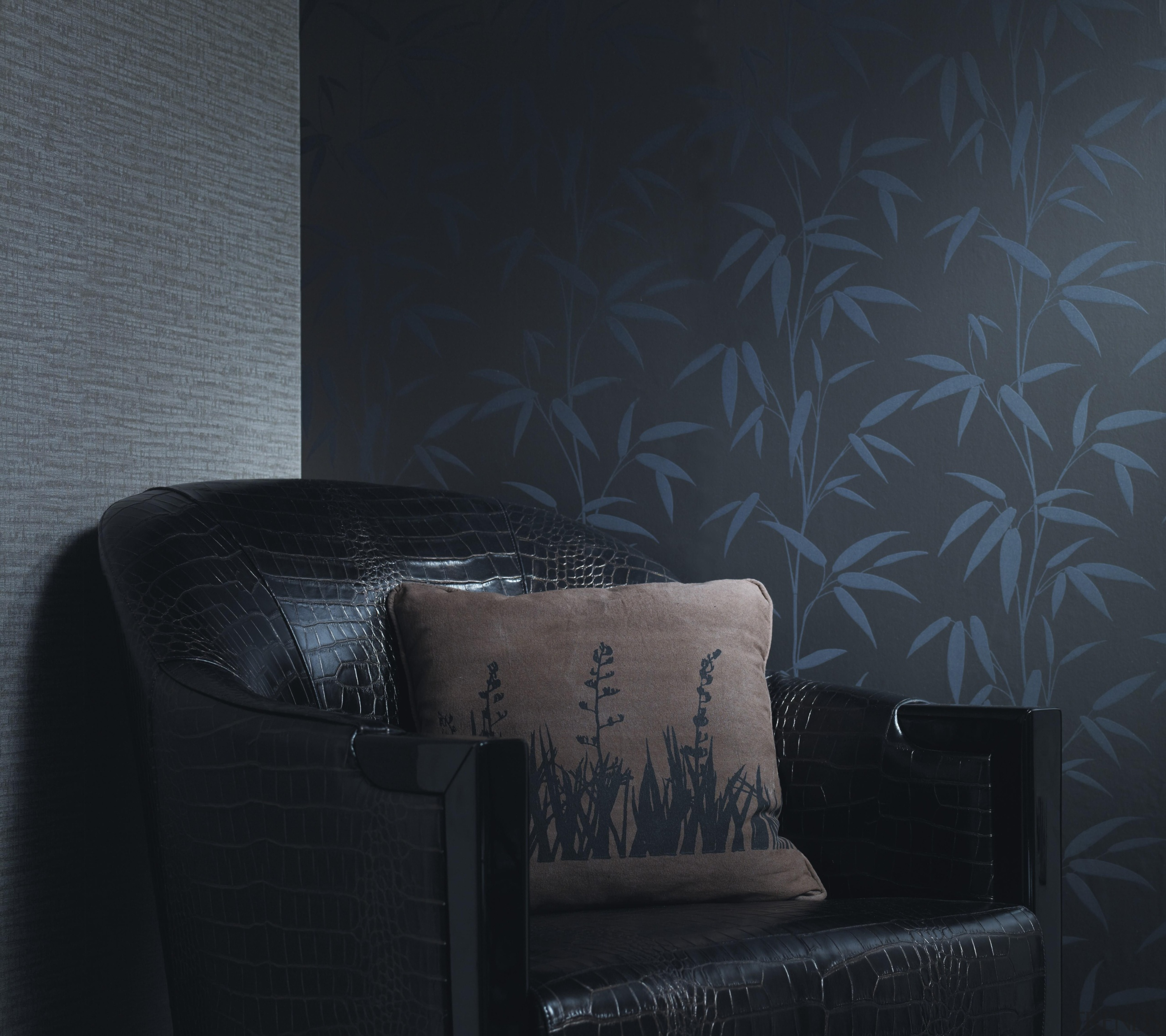 Pacifika Bamboo - Modern Style Range - black black, darkness, interior design, light, product design, wall, wallpaper, black