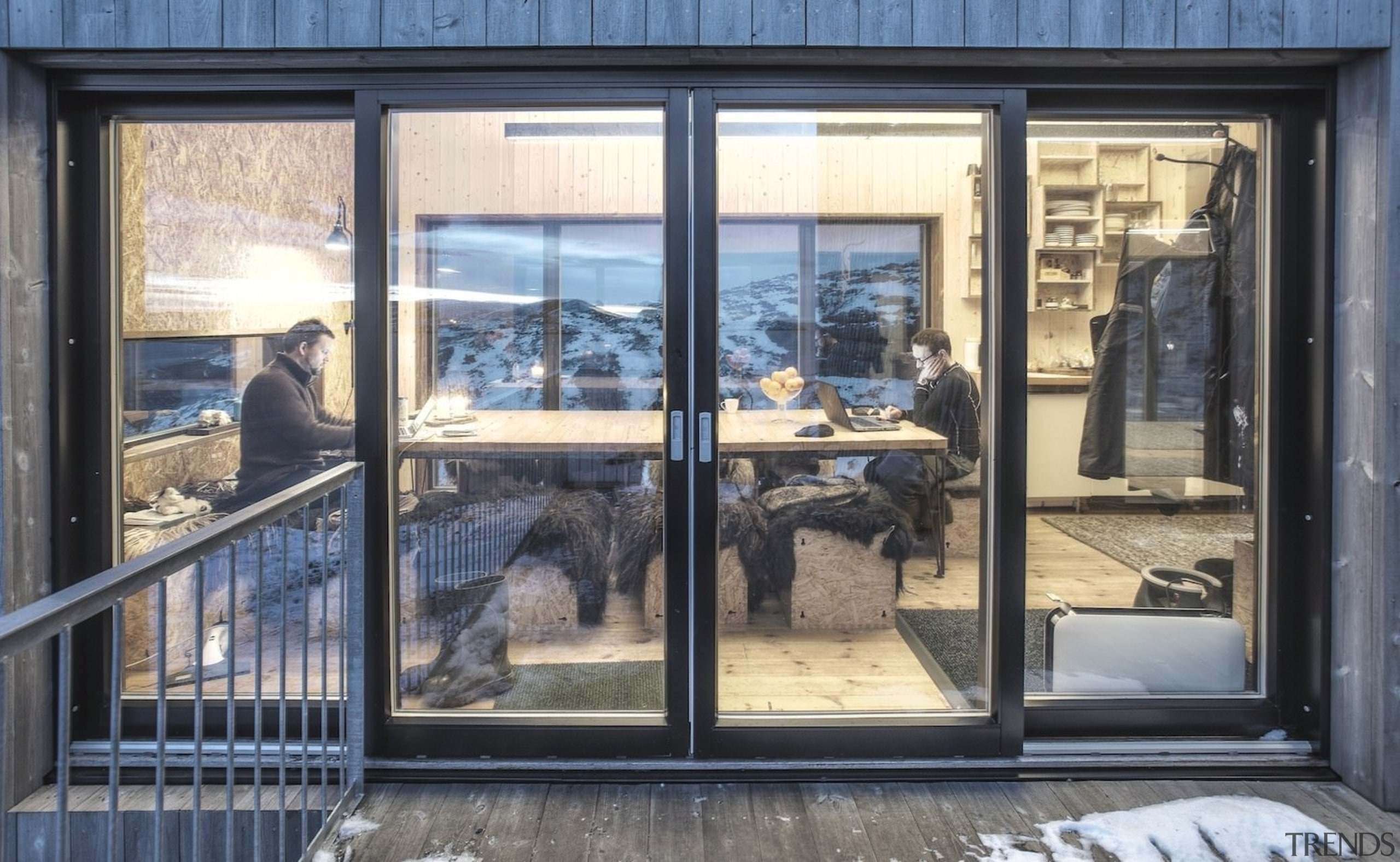 Architect: TYIN tegnestue ArchitectsPhotographer: Pasi Aalto / door, glass, home, window, gray, black