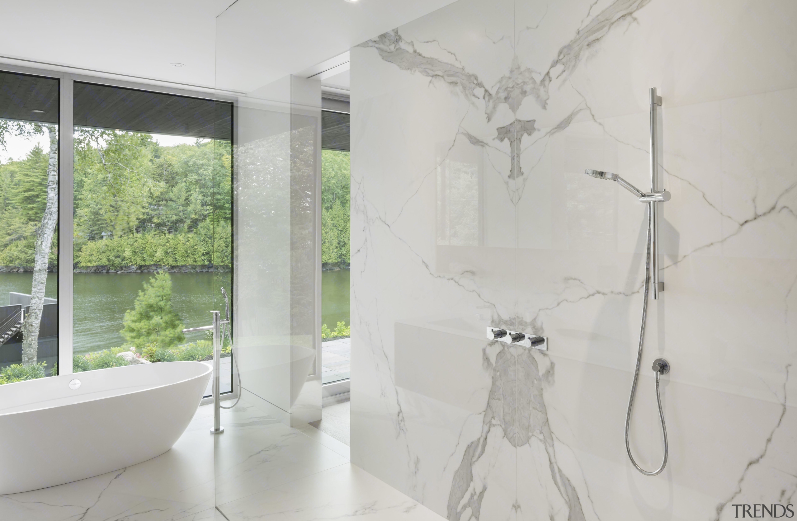 Mu Architects Selected Neolith Estatuario For Walls And Floors In