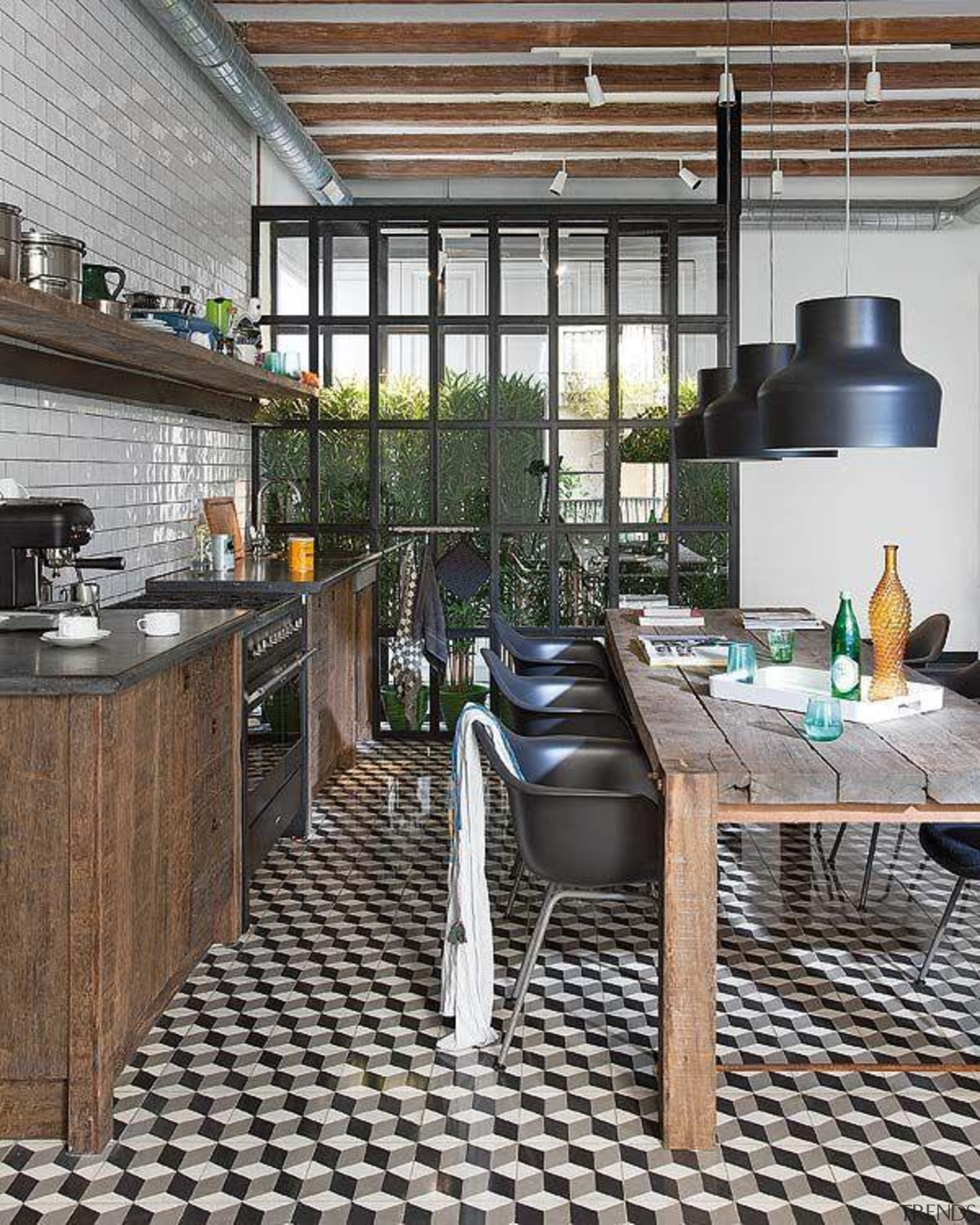 Start a myTrends ProjectCreate an ideas hub for interior design, outdoor structure, patio, table, black, gray, white