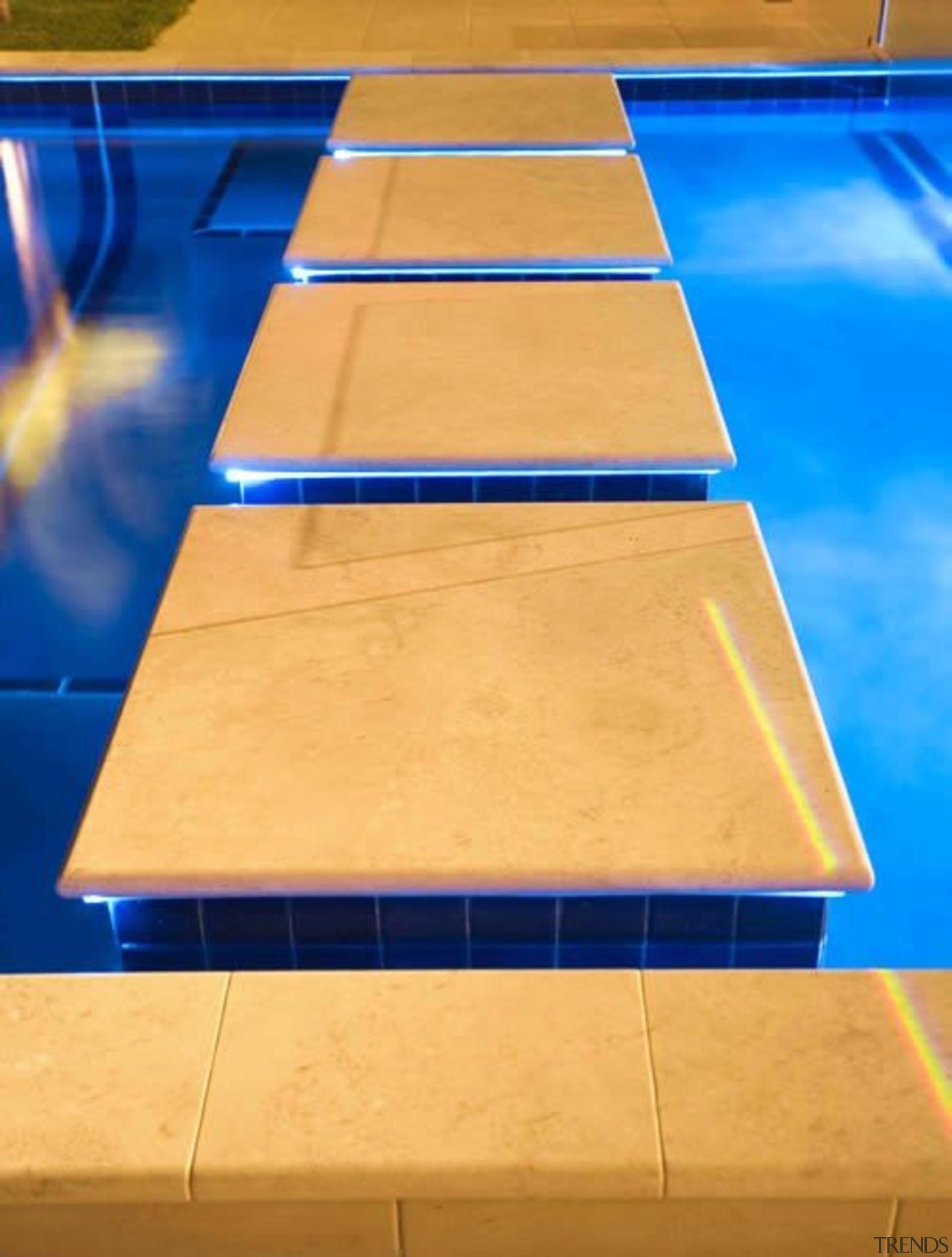 Waterfall - angle | blue | floor | angle, blue, floor, flooring, hardwood, line, material, plywood, structure, table, wood, wood stain, orange