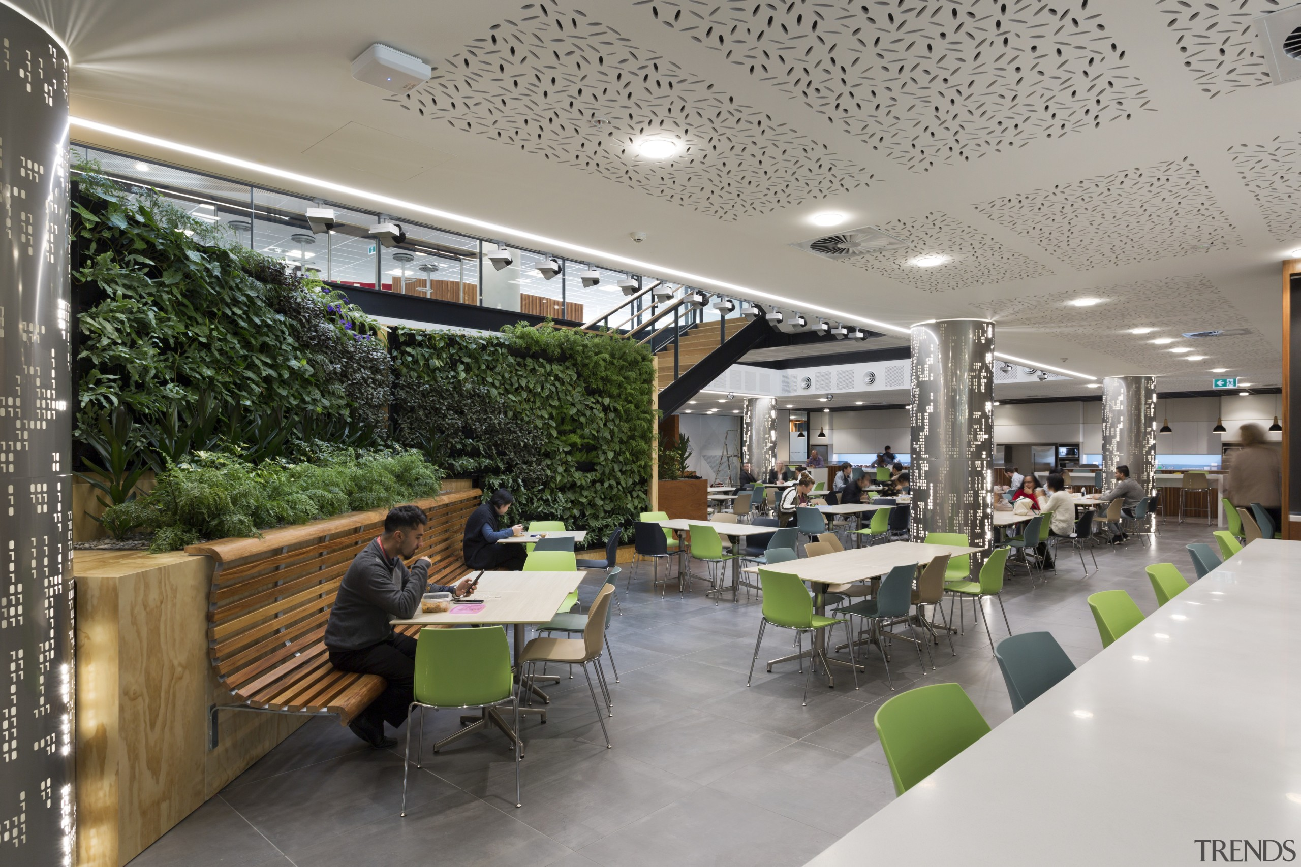 Level One of the Datacom offices is a interior design, gray