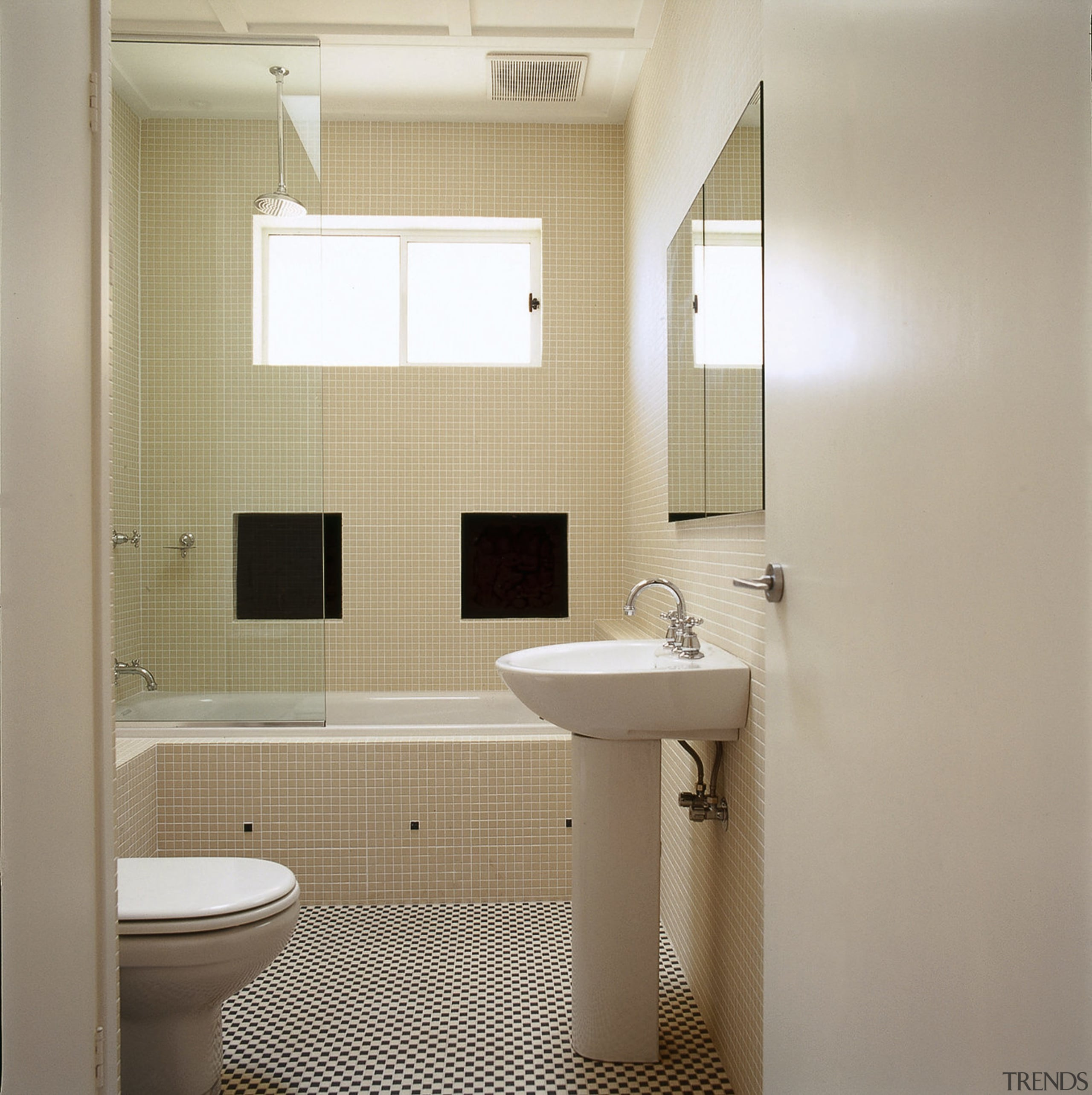 Cream Bathroom With Tiled Walls And Gallery 3 Trends