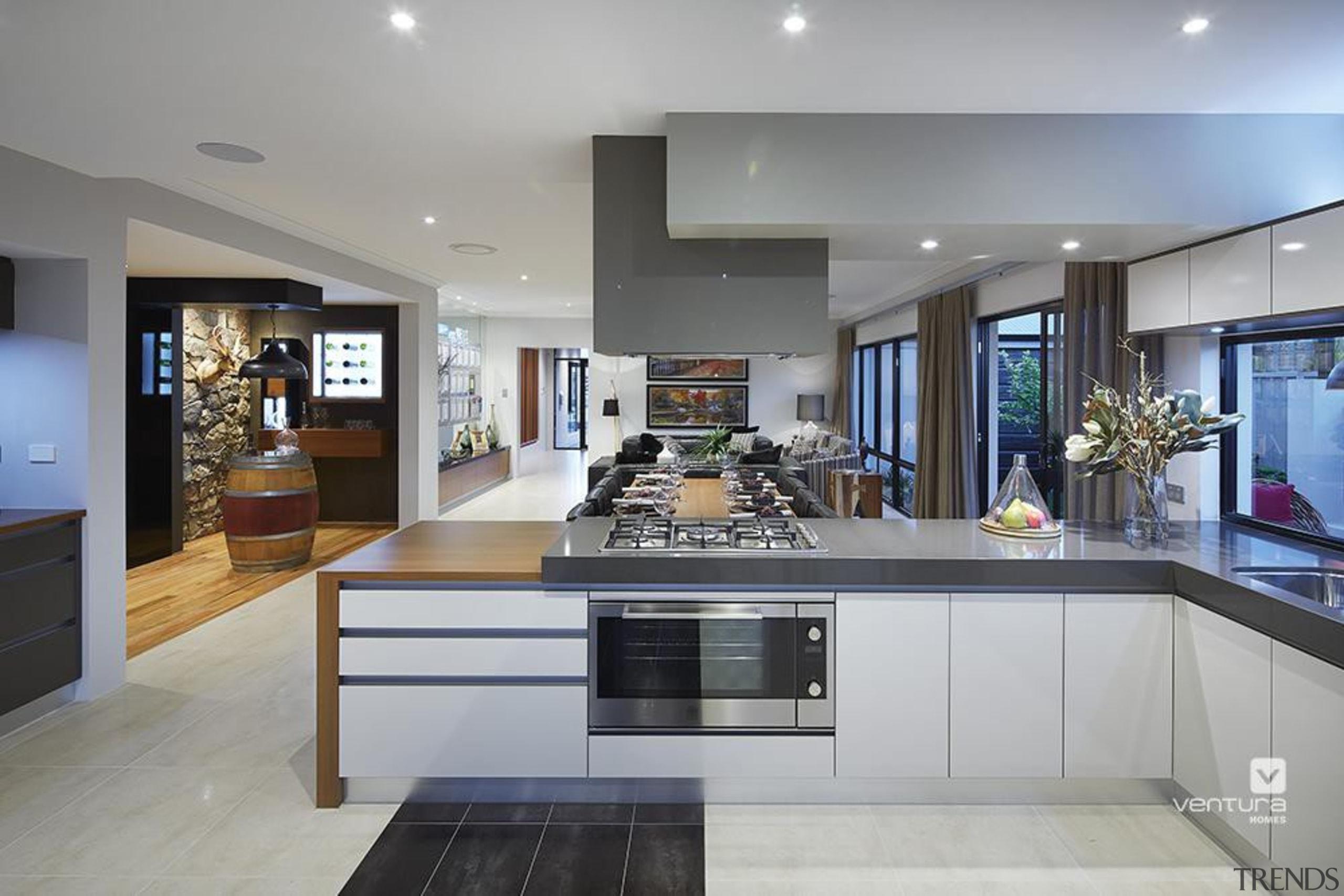 Kitchen design. - The Macquarie Display Home - countertop, interior design, kitchen, real estate, gray