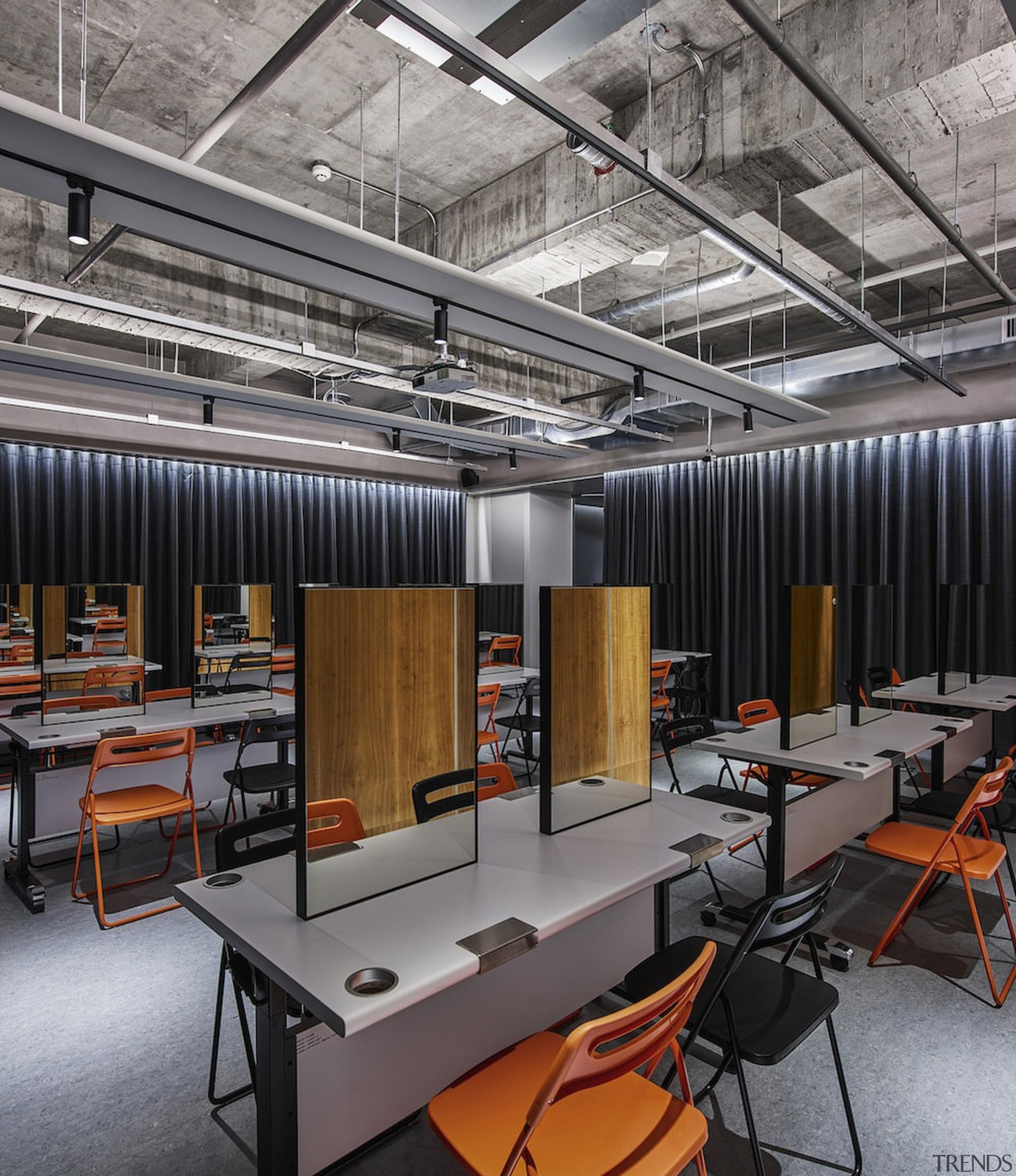 H Academy – Shi-Chieh Lu/CJ Studio - H factory, office, gray, black