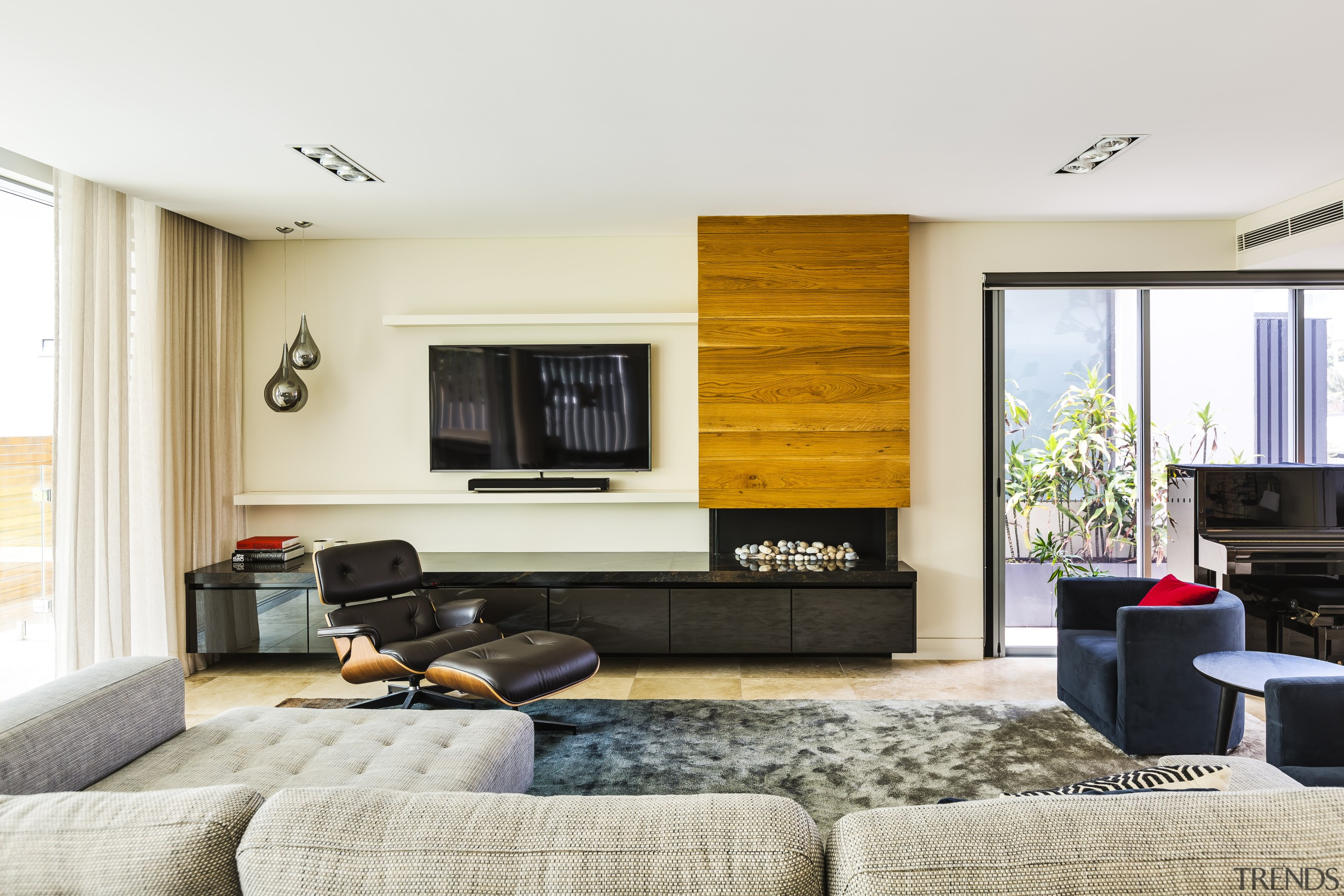 Straight ahead from the entry hall in this interior design, living room, lounge, Giles & Tribe Architecture