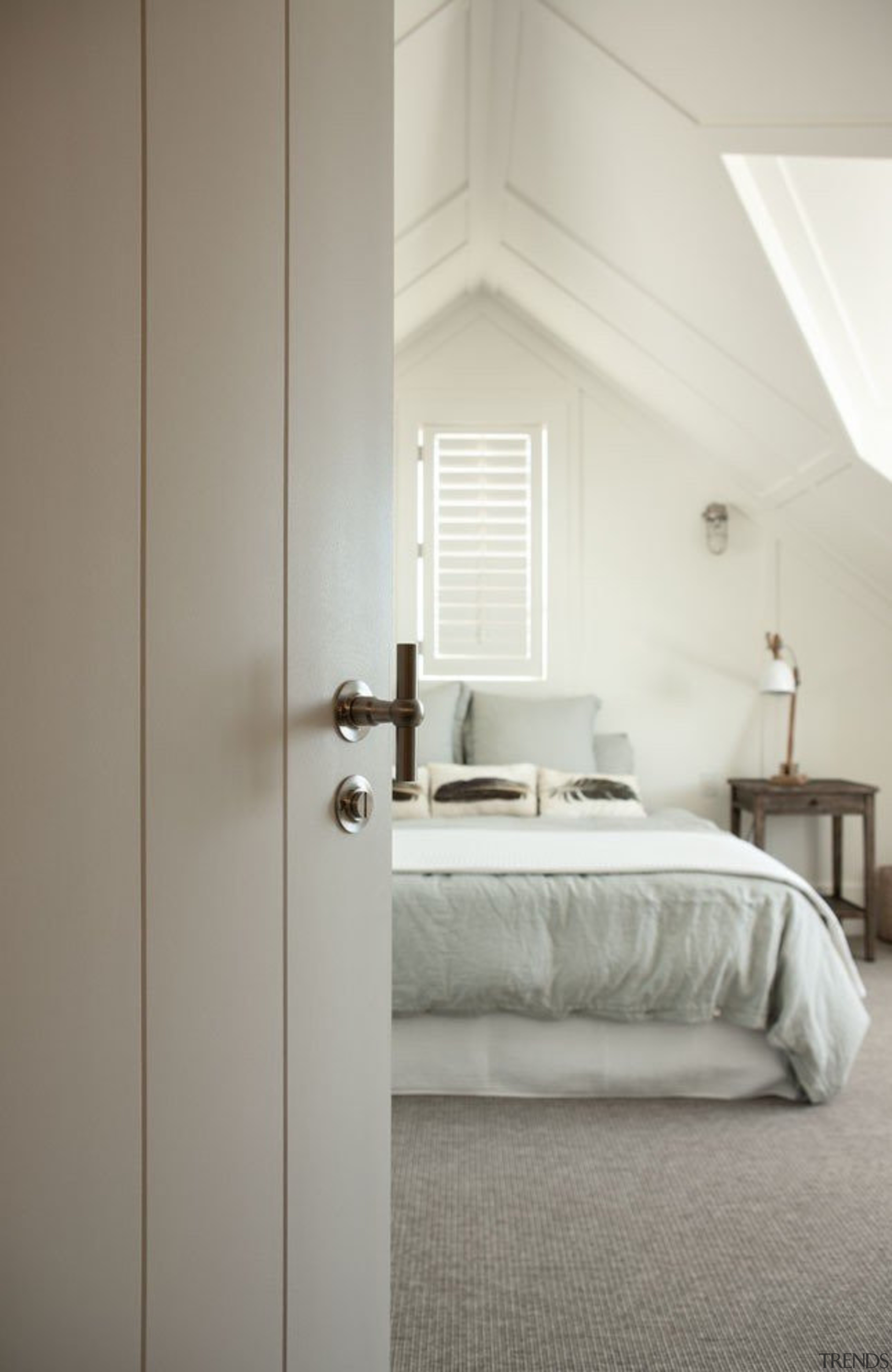 Formani Ferrovia exclusive to www.sopersmac.co.nz - Formani Ferrovia architecture, bed frame, bedroom, daylighting, floor, furniture, home, interior design, room, wall, window, wood, gray, white
