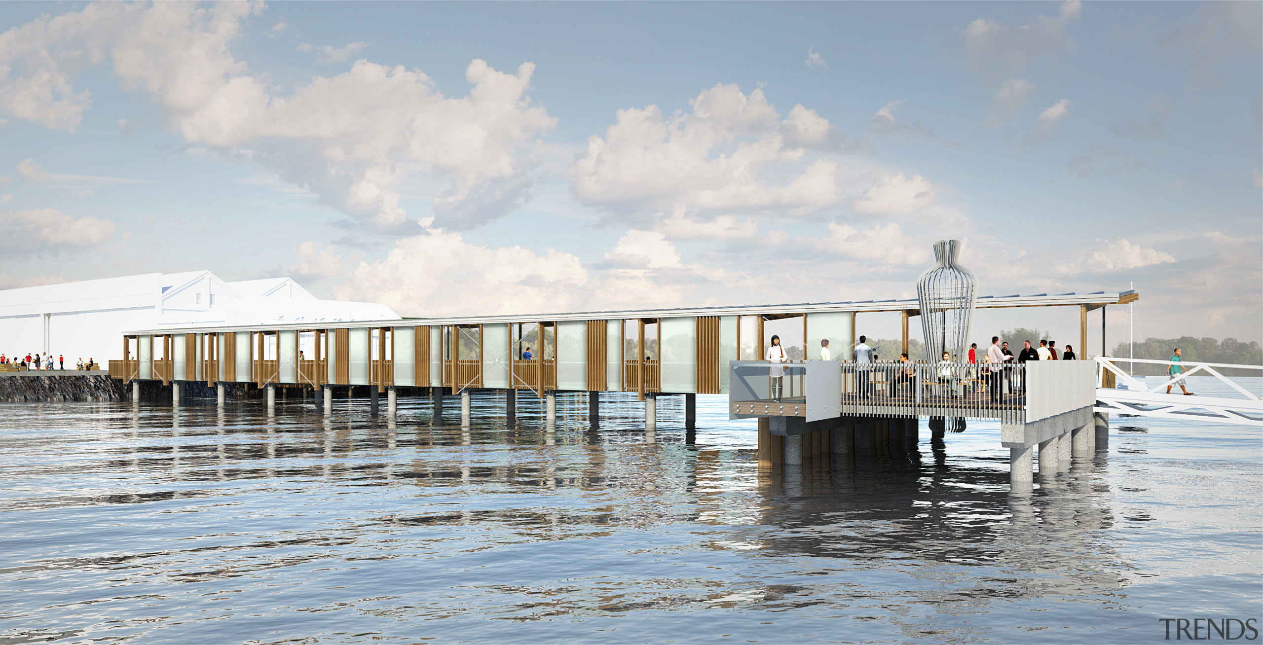 Hobsonville Point is an idyllic setting for homeowners dock, sea, sky, water, water transportation, gray, white
