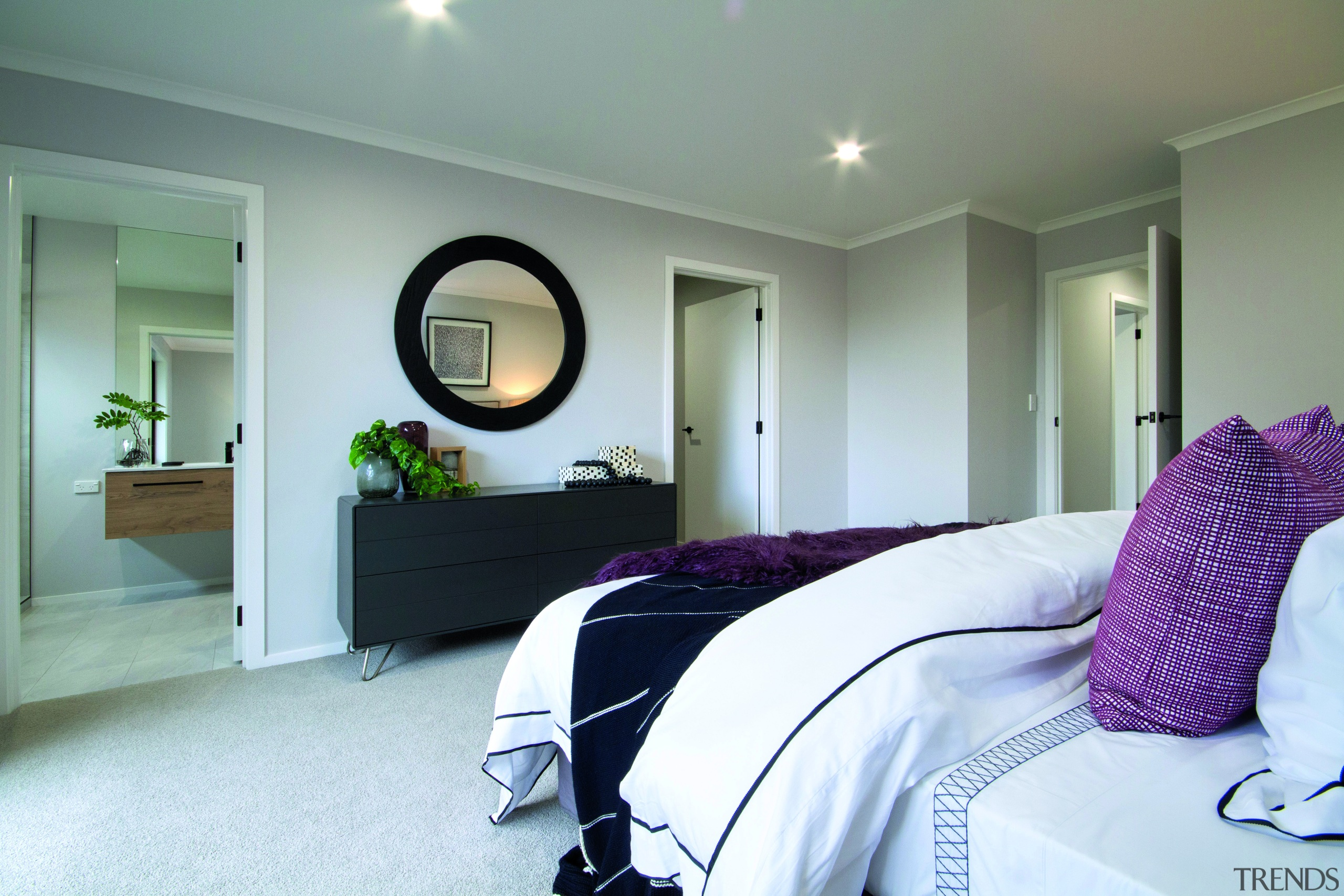 In this well laid out showhome by GJ bed, bedroom, furniture, home, house, interior design, GJ Gardner Homes, home builder