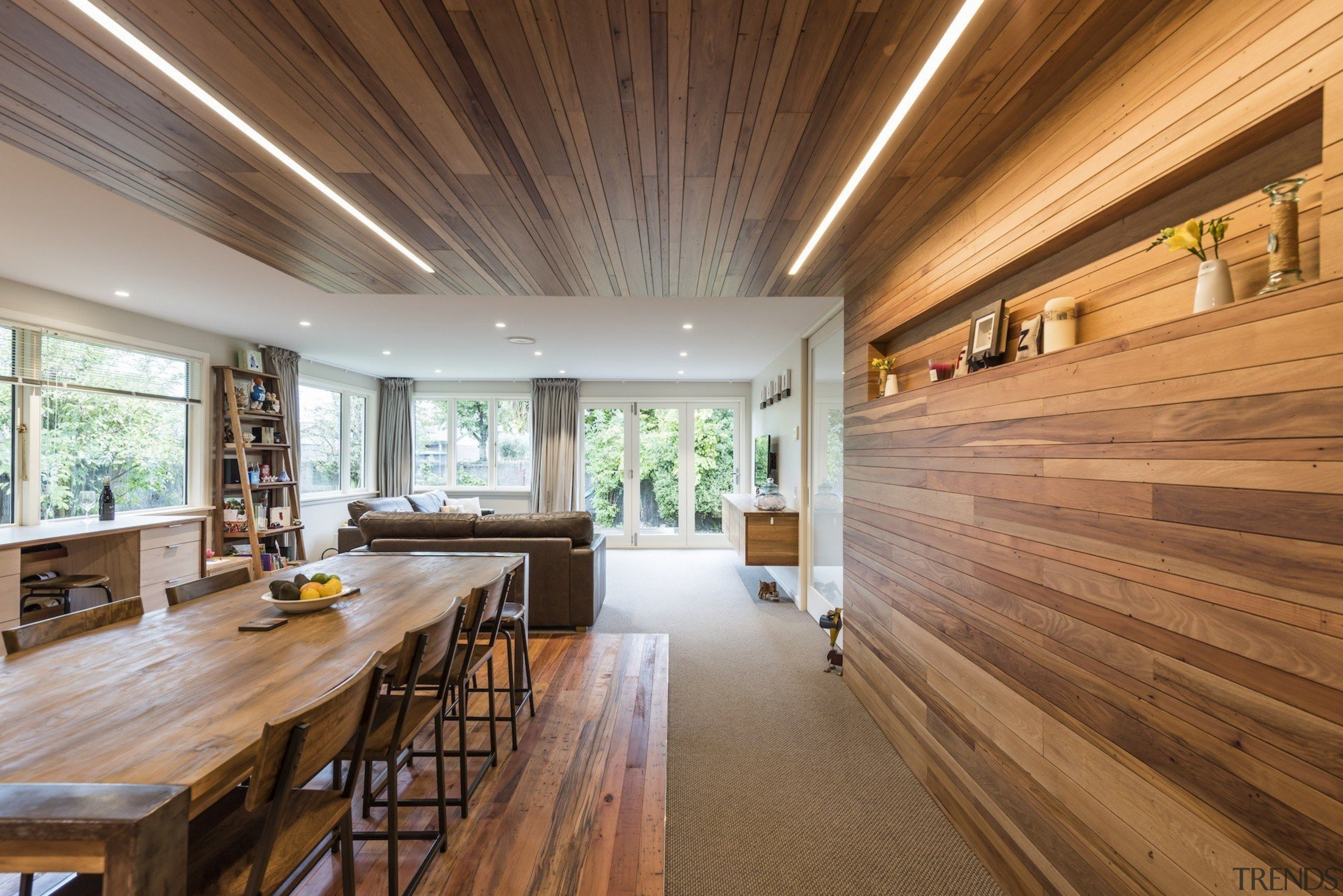 Higham Architecture architecture, ceiling, daylighting, estate, floor, flooring, hardwood, home, house, interior design, living room, real estate, wood, wood flooring, brown