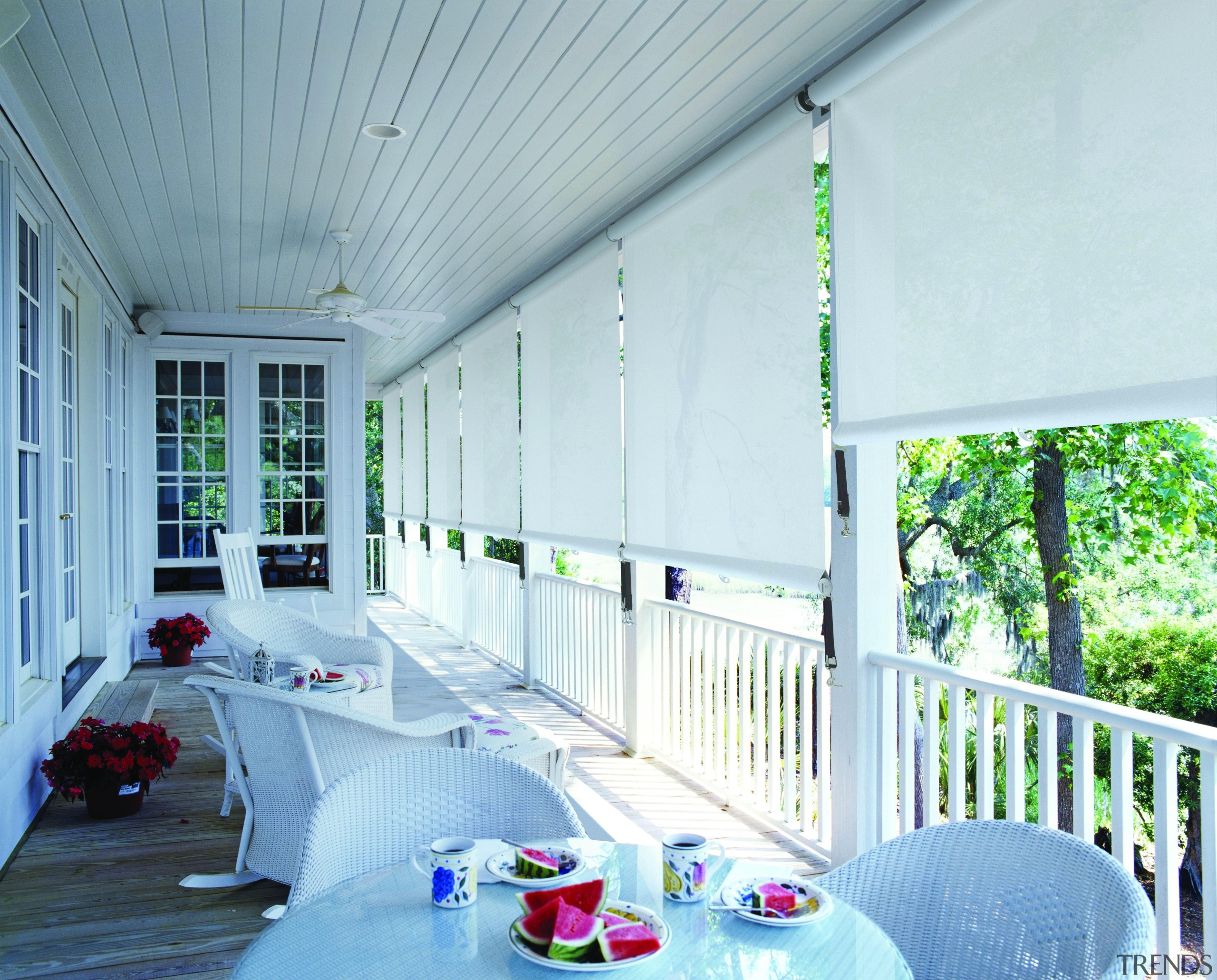 fabric awning - fabric awning - architecture   architecture, balcony, ceiling, daylighting, estate, home, house, interior design, living room, porch, real estate, roof, shade, wall, window, white, teal