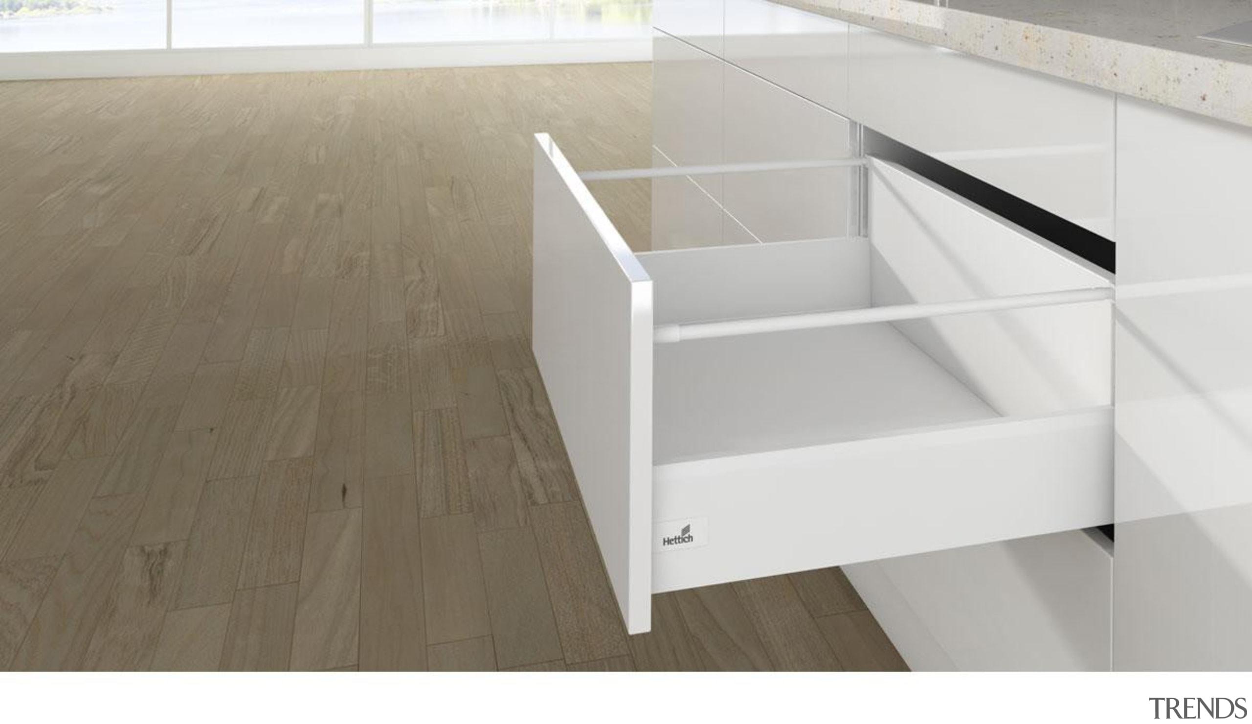 Lengthwise Railing - Round - Lengthwise Railing - drawer, floor, furniture, plywood, product, product design, table, white