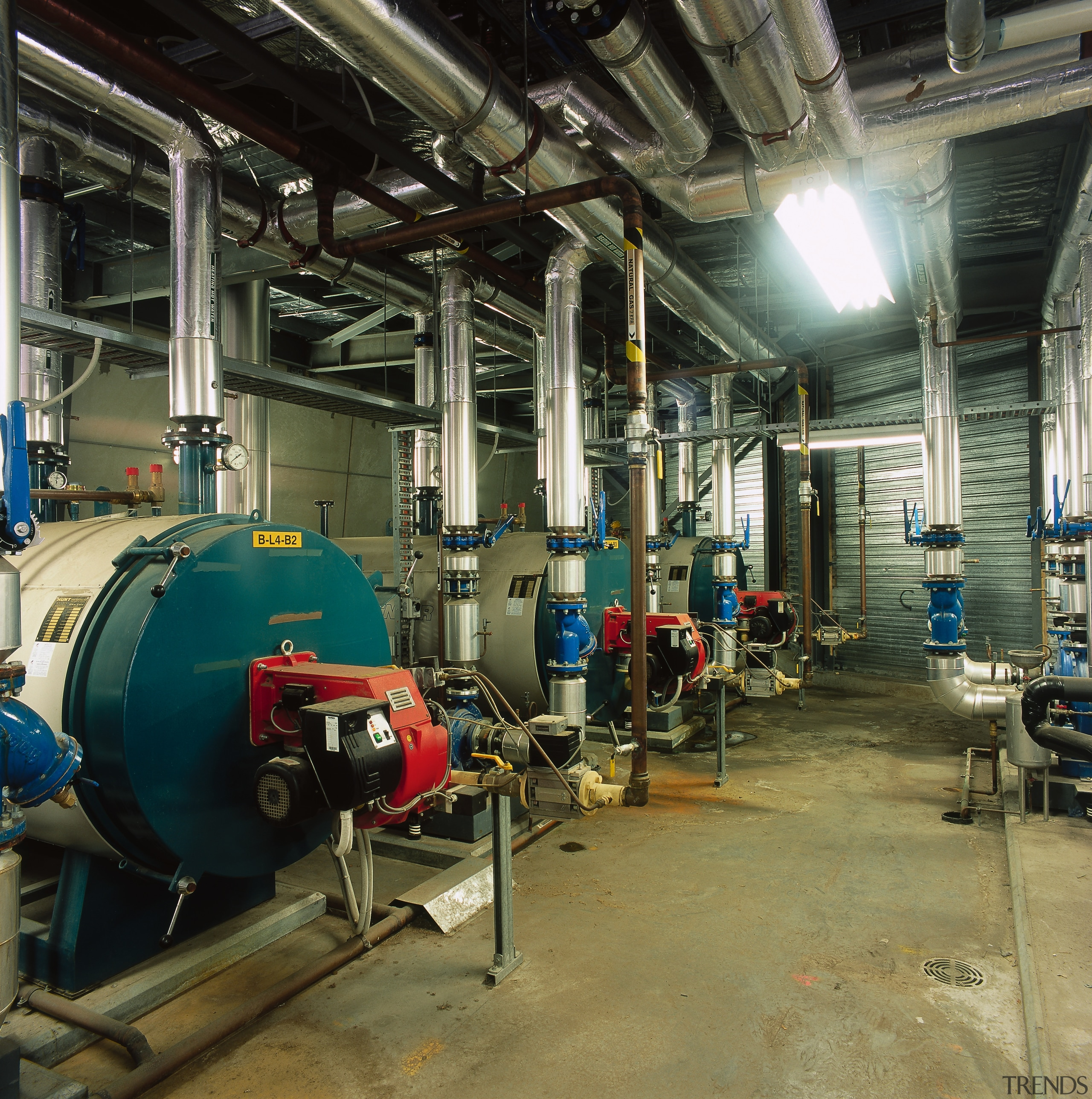 Machinery room for mechanical services at the MCG. engineering, factory, industry, machine, manufacturing, brown, black