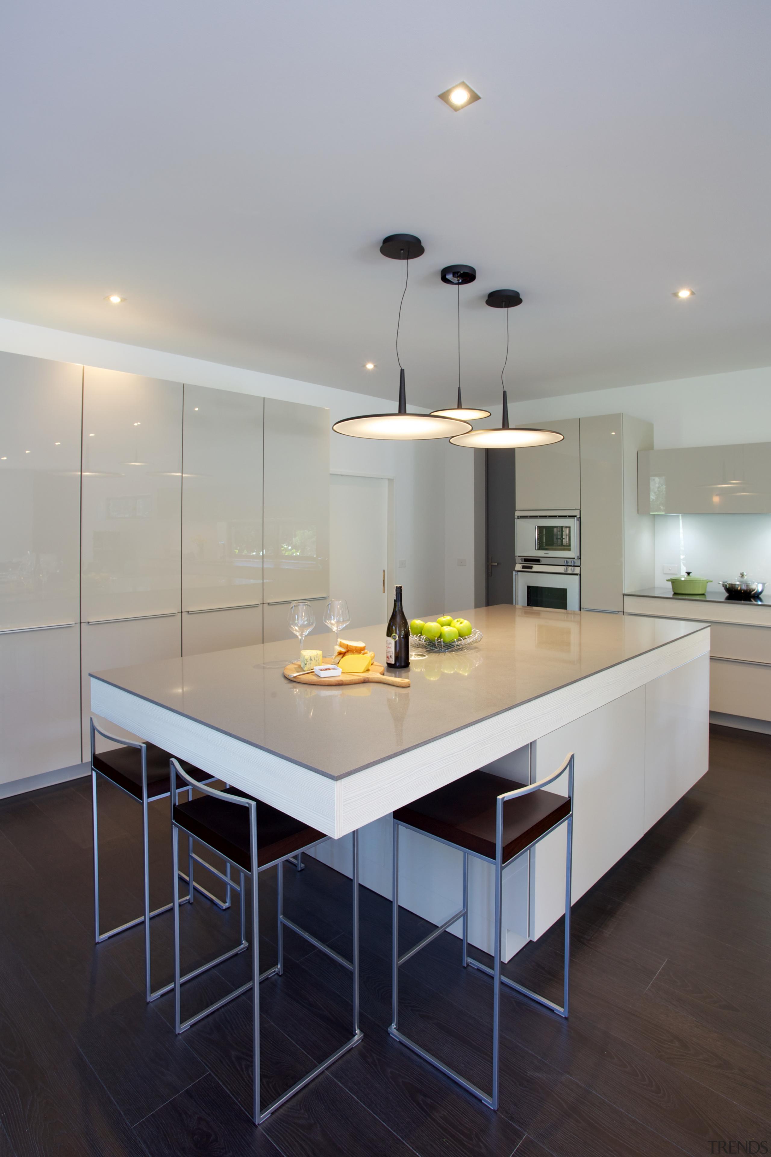 This Poggenpohl kitchen island and some perimeter cabinets architecture, countertop, interior design, kitchen, room, gray, black