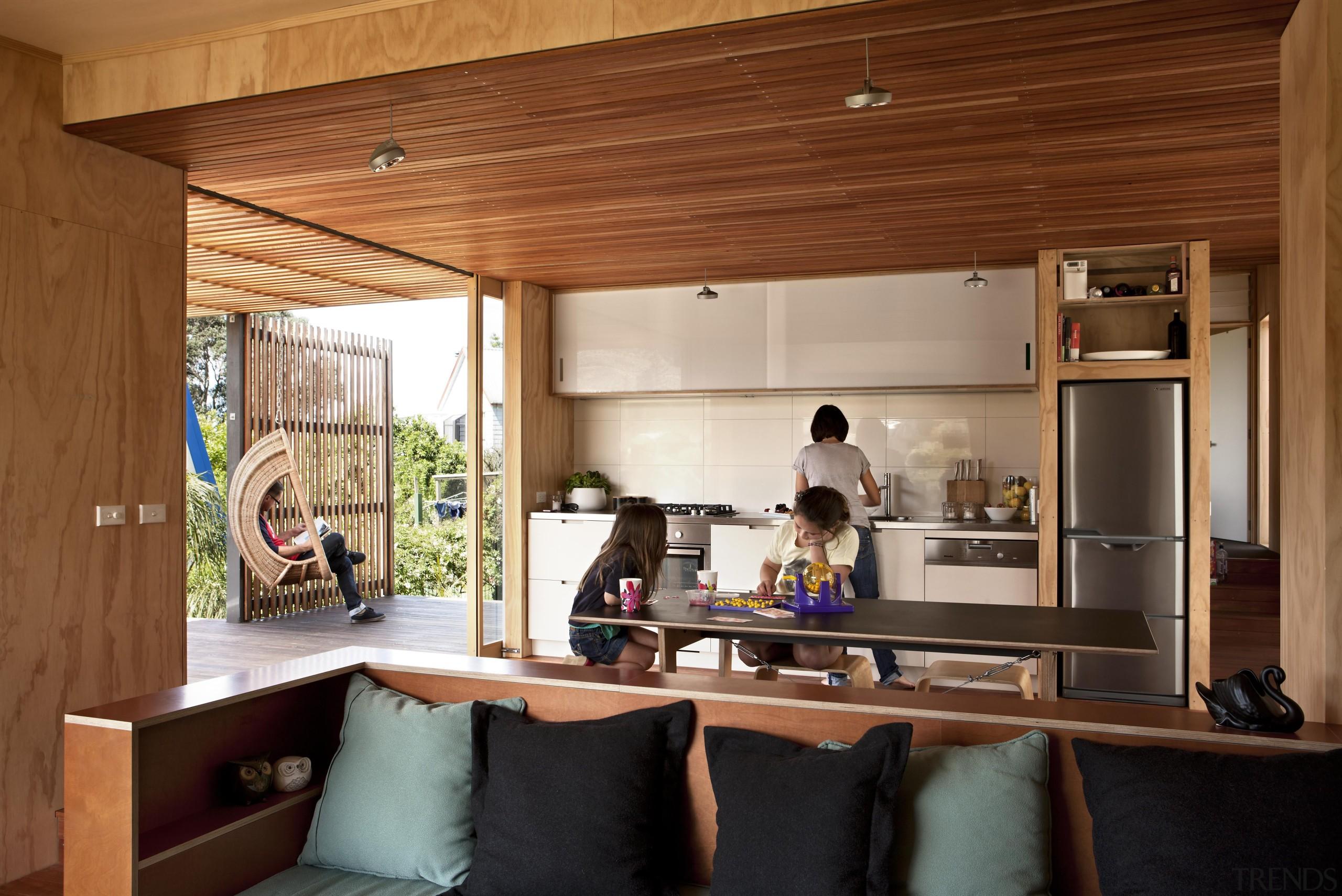 Coromandel, New Zealand - Studio 19 Onemana Bach architecture, ceiling, furniture, home, house, interior design, wood, brown