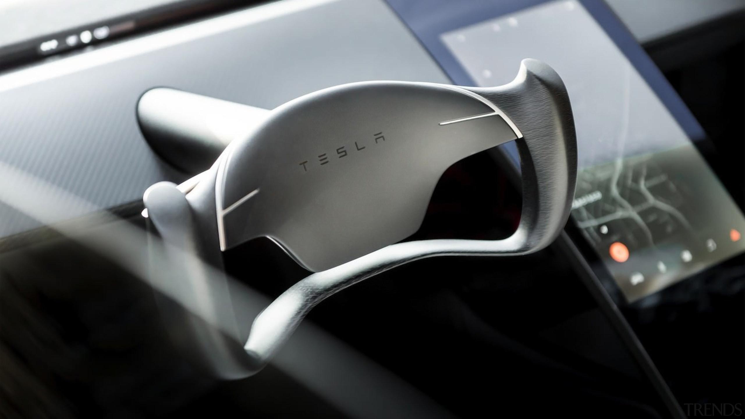 Tesla's new Roadster - Tesla's new Roadster - automotive design, car, land vehicle, motor vehicle, personal luxury car, product design, steering part, steering wheel, vehicle, black, gray