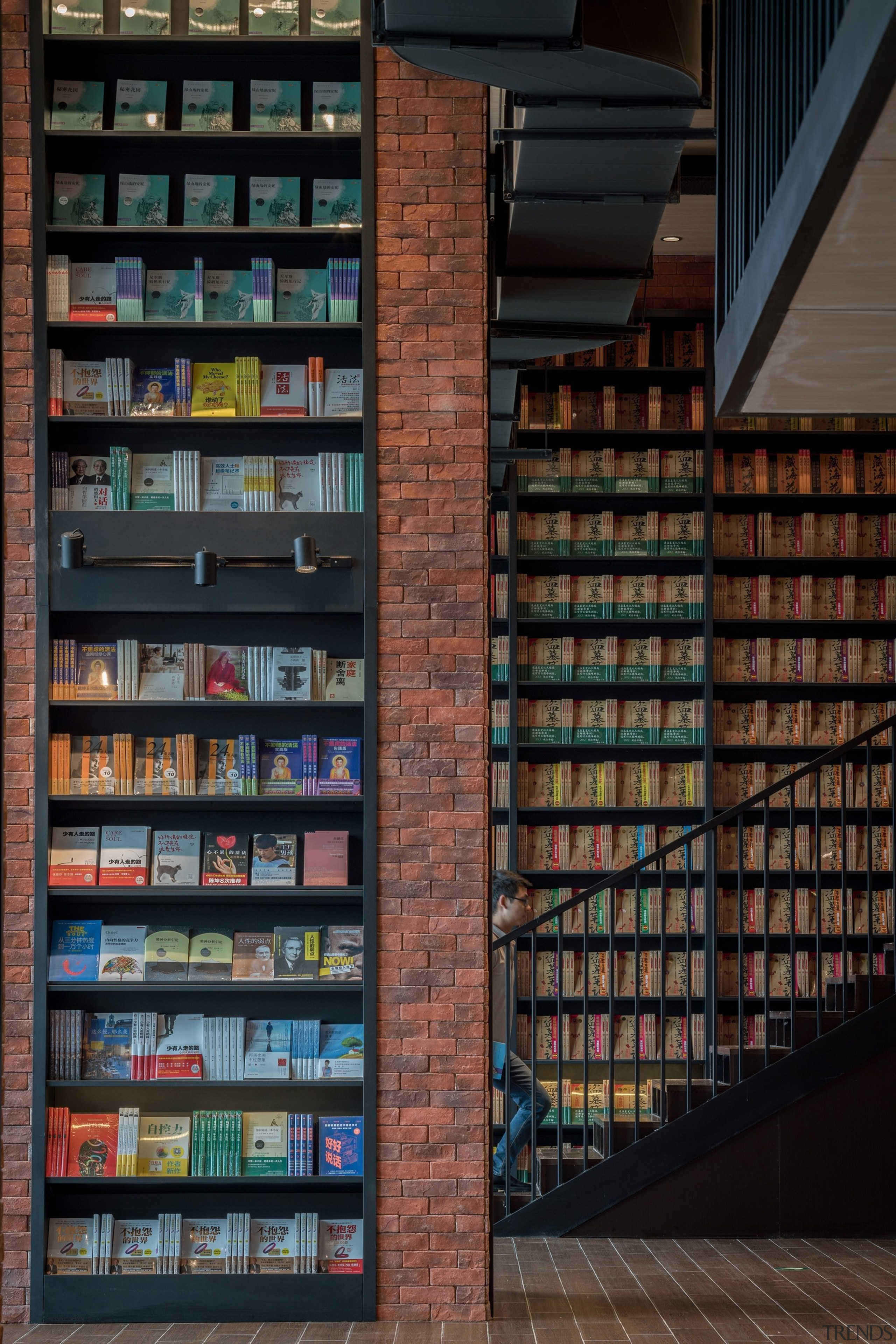 Architect: X+LivingPhotography by Shao Feng bookcase, building, library, public library, shelving, black