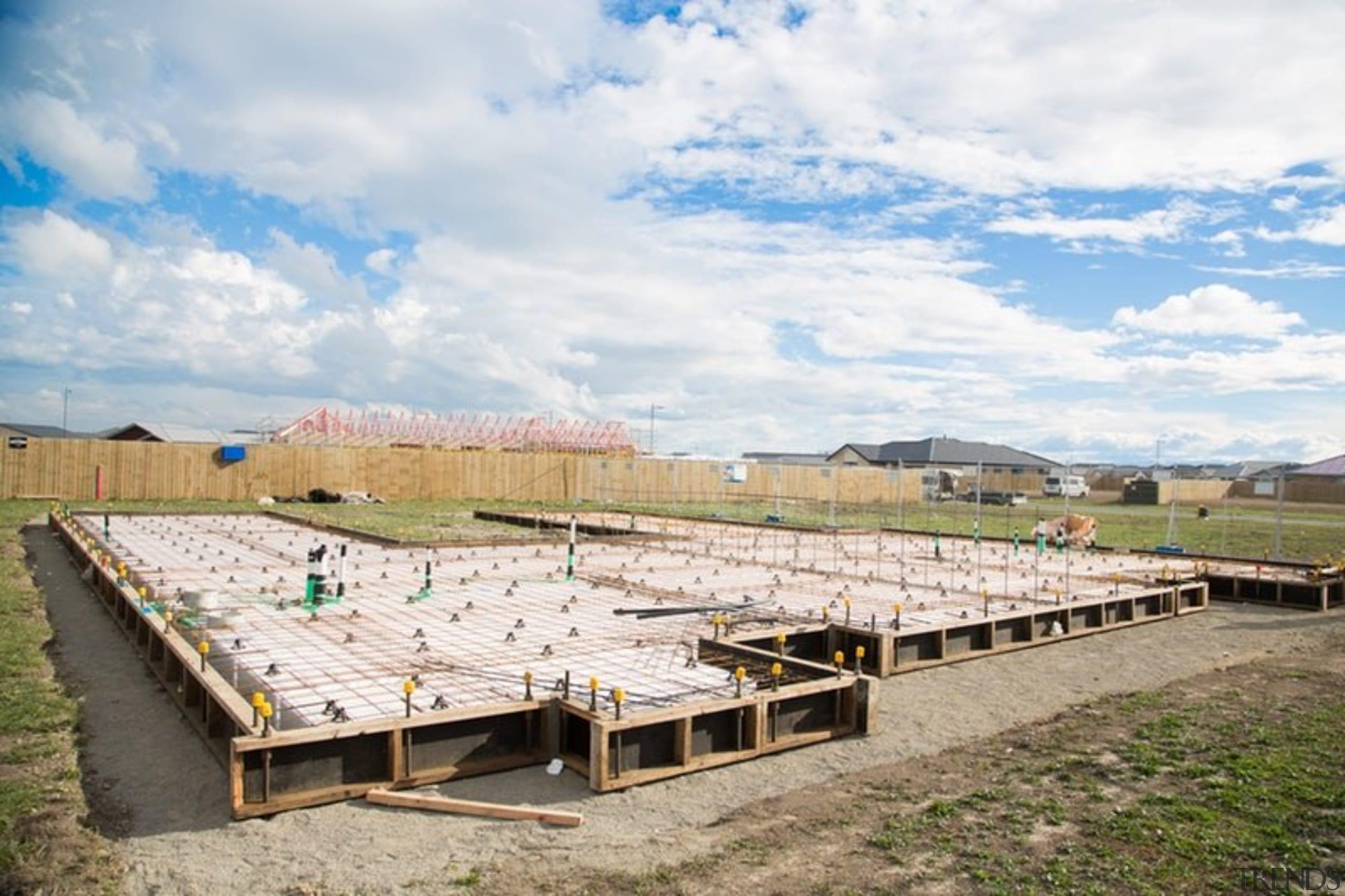 Ready Super Slab – Pour - architecture   architecture, house, land lot, roof, sky, sport venue, white