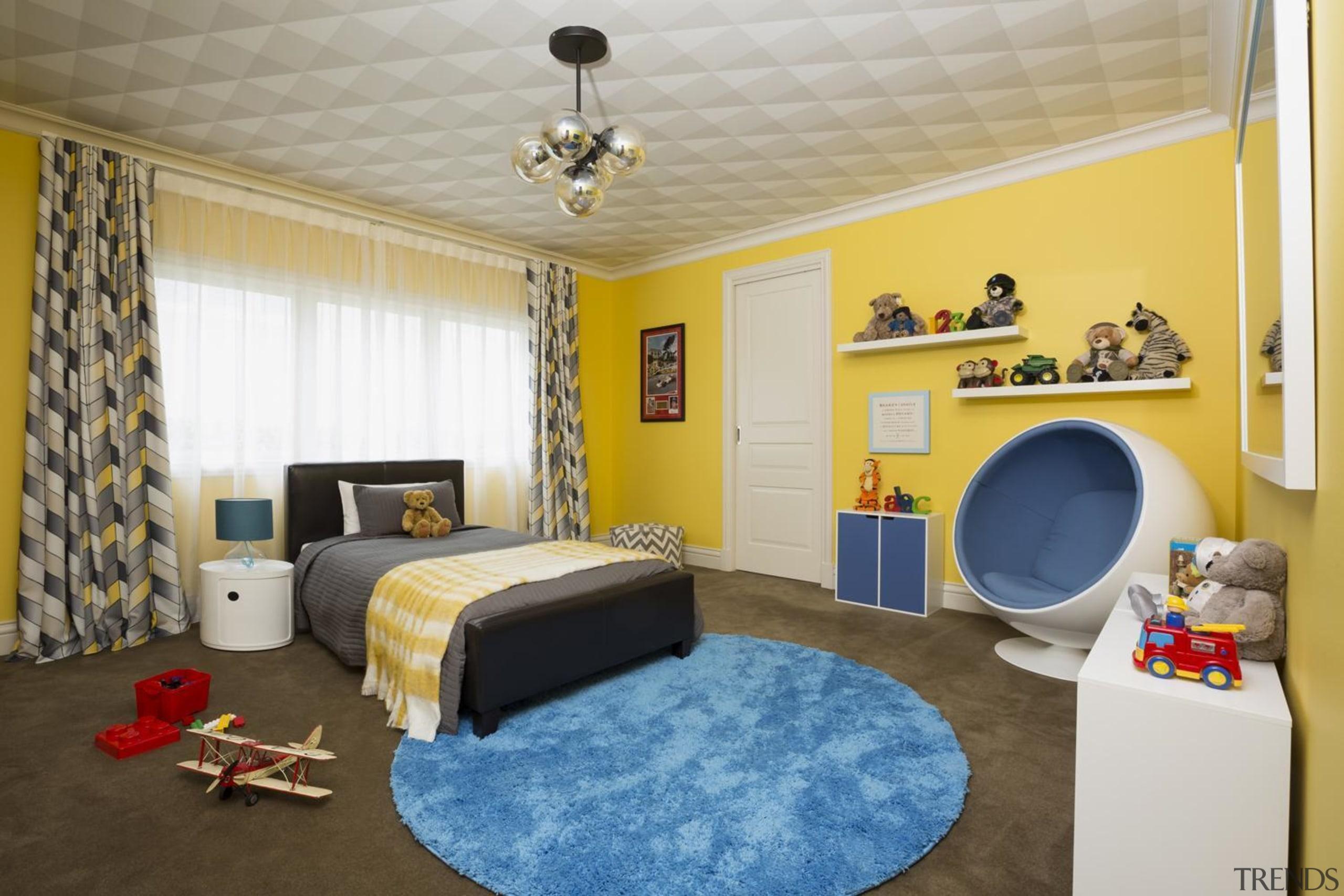 Childrens Bedroom - bedroom   ceiling   home bedroom, ceiling, home, interior design, property, real estate, room, wall, gray