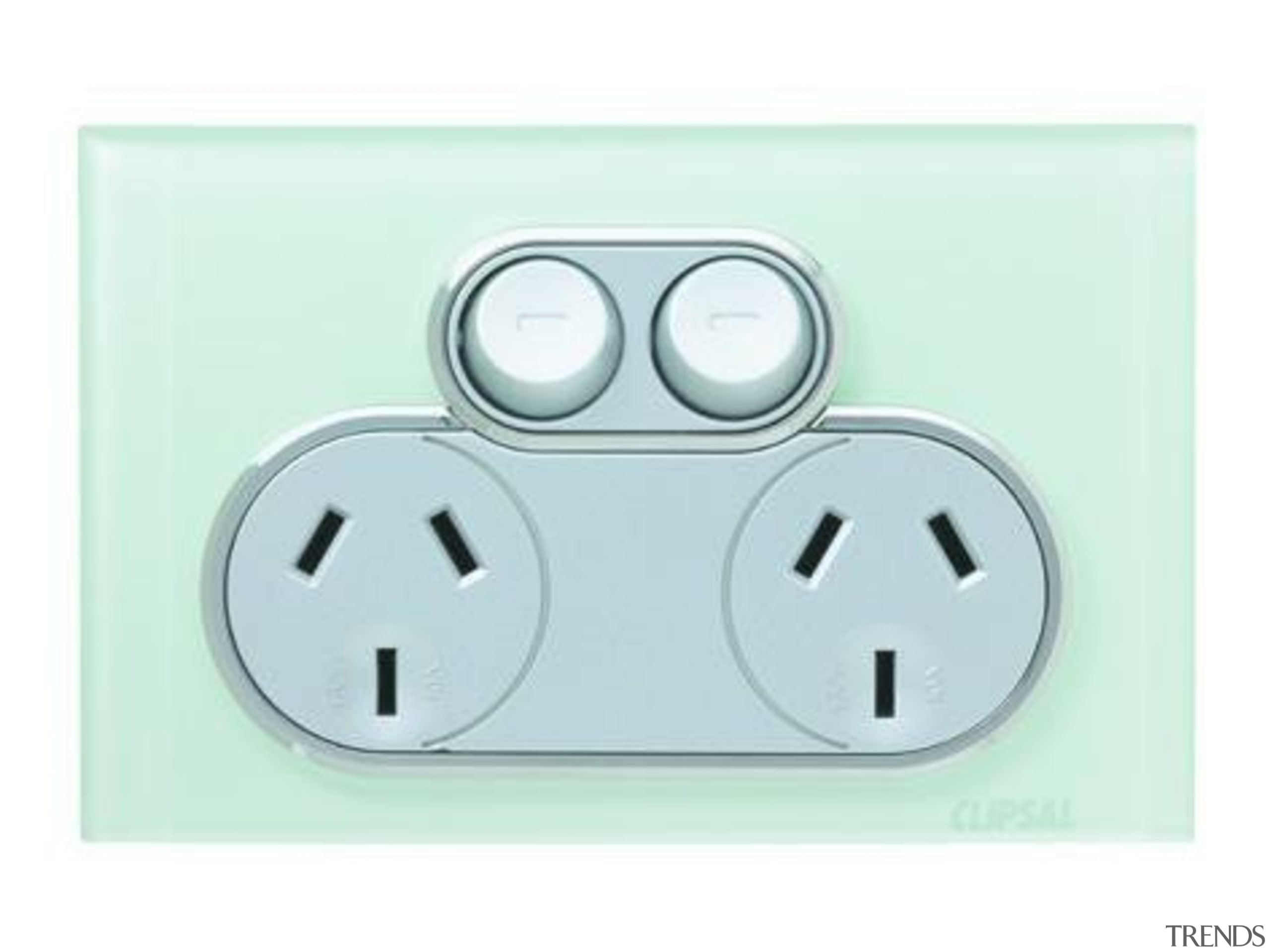Saturn 250V power point / double socket Ocean ac power plugs and socket outlets, electronics accessory, technology, white