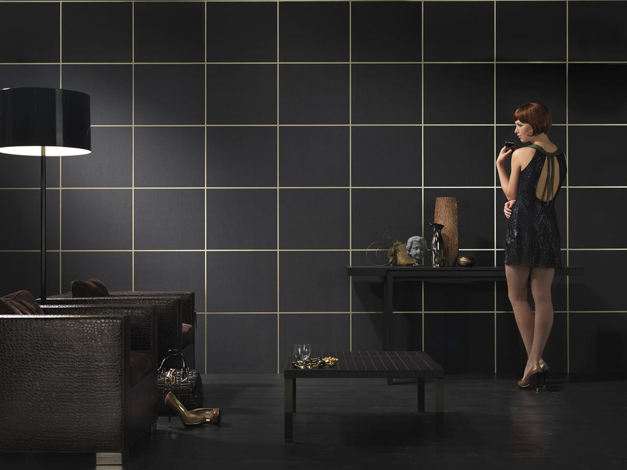 Inspire Range - Inspire Range - bathroom | bathroom, black, floor, flooring, interior design, lighting, room, tile, wall, black