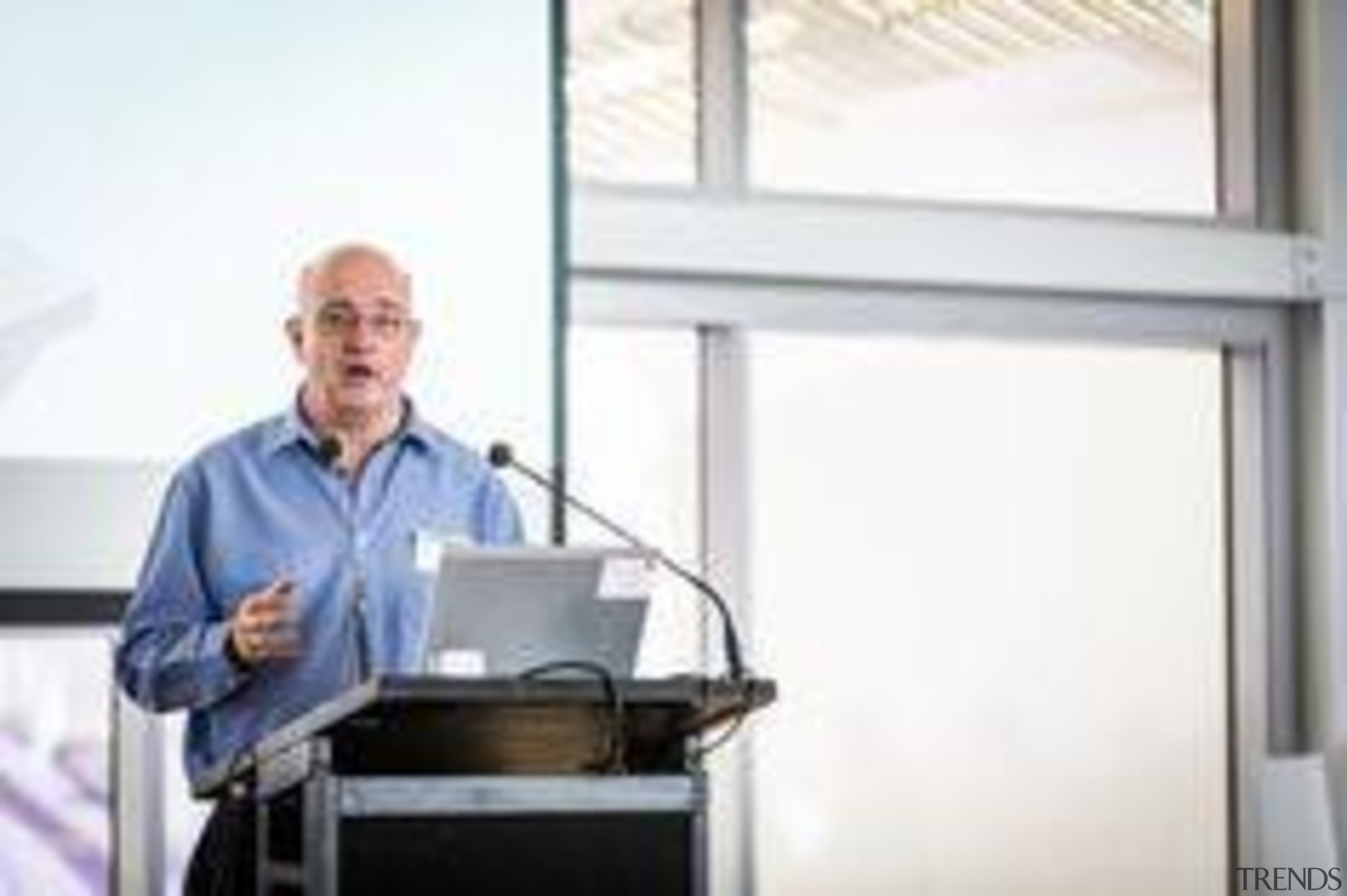 John Lukaszewicz, from Cladding Systems NZ, speaking at business, communication, energy, professional, service, technology, window, white