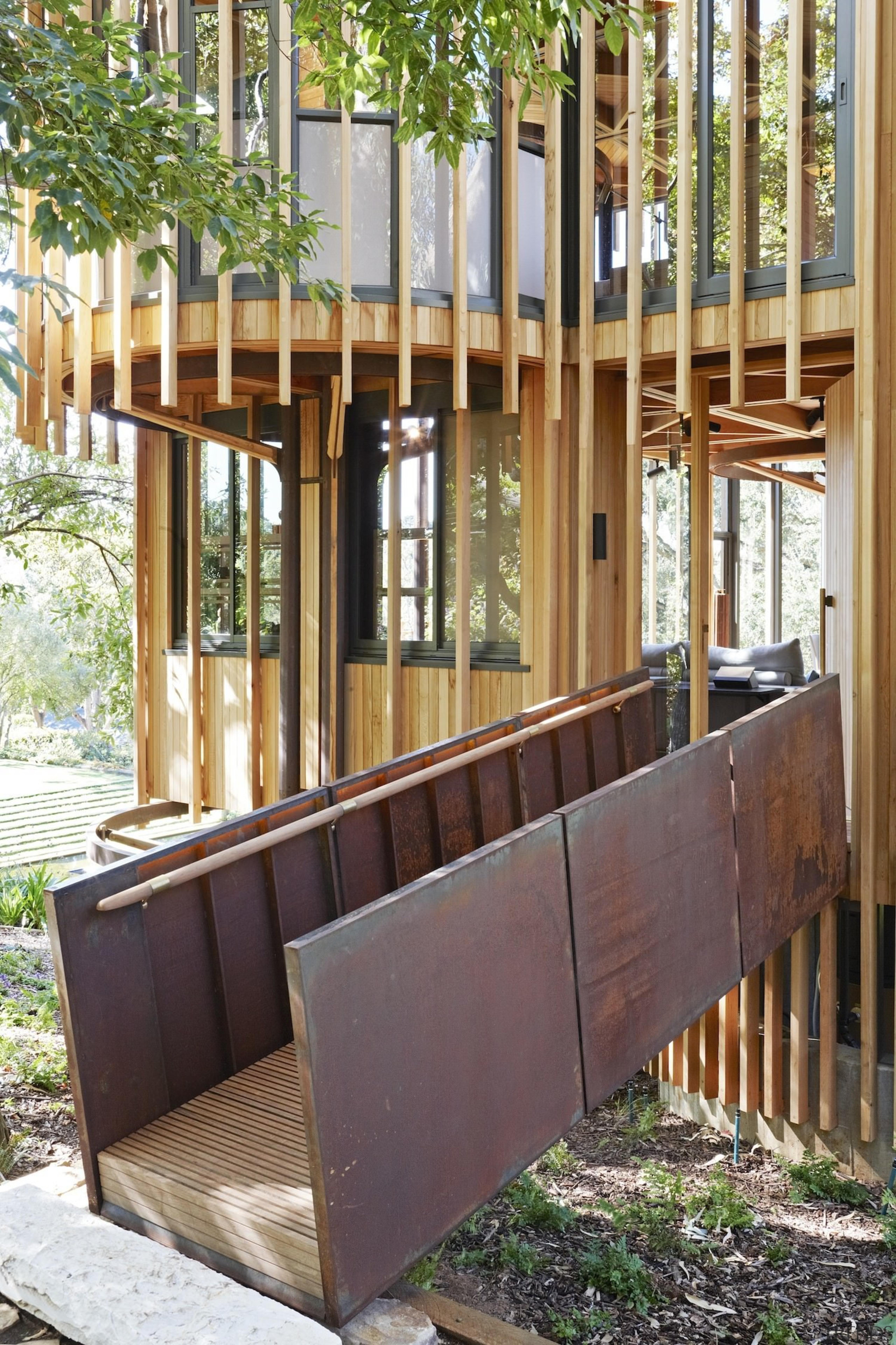Architect: Malan VorsterPhotography by Adam Letch, Micky deck, furniture, handrail, outdoor structure, porch, stairs