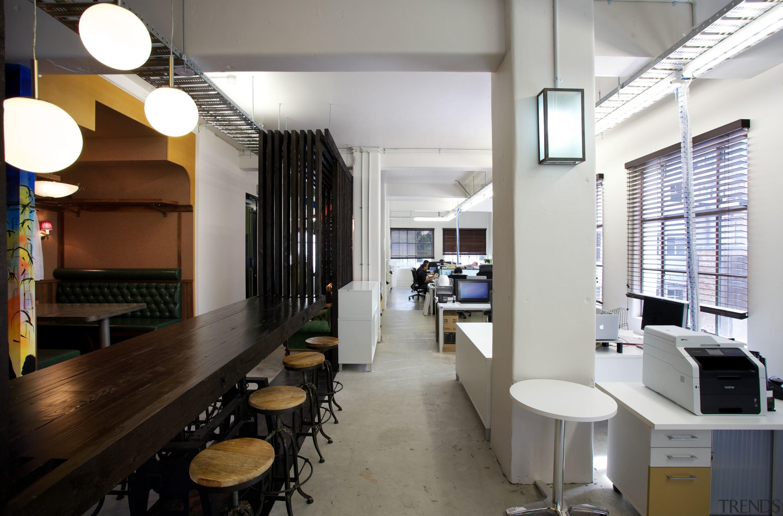 Vintage furniture in the Gaze office and design interior design, gray, white