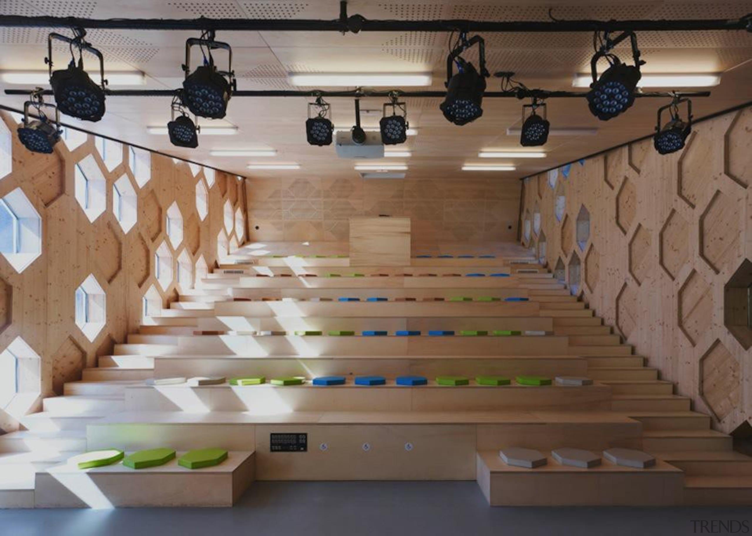 Library Extension - Library Extension - floor   floor, flooring, furniture, interior design, table, wall, wood, brown, gray