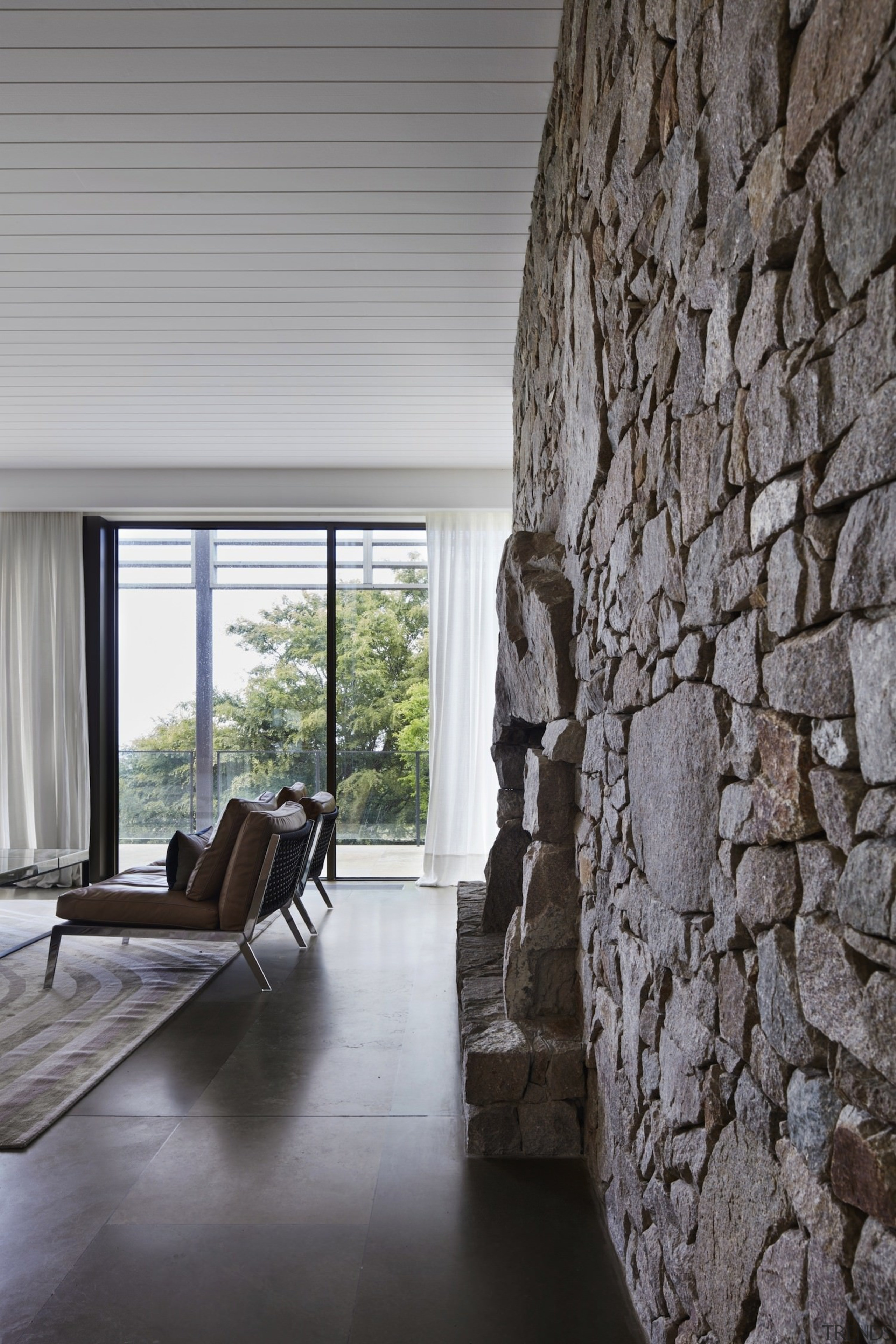 Architect: B.E Architecture architecture, floor, flooring, home, house, interior design, living room, wall, window, wood, gray, black