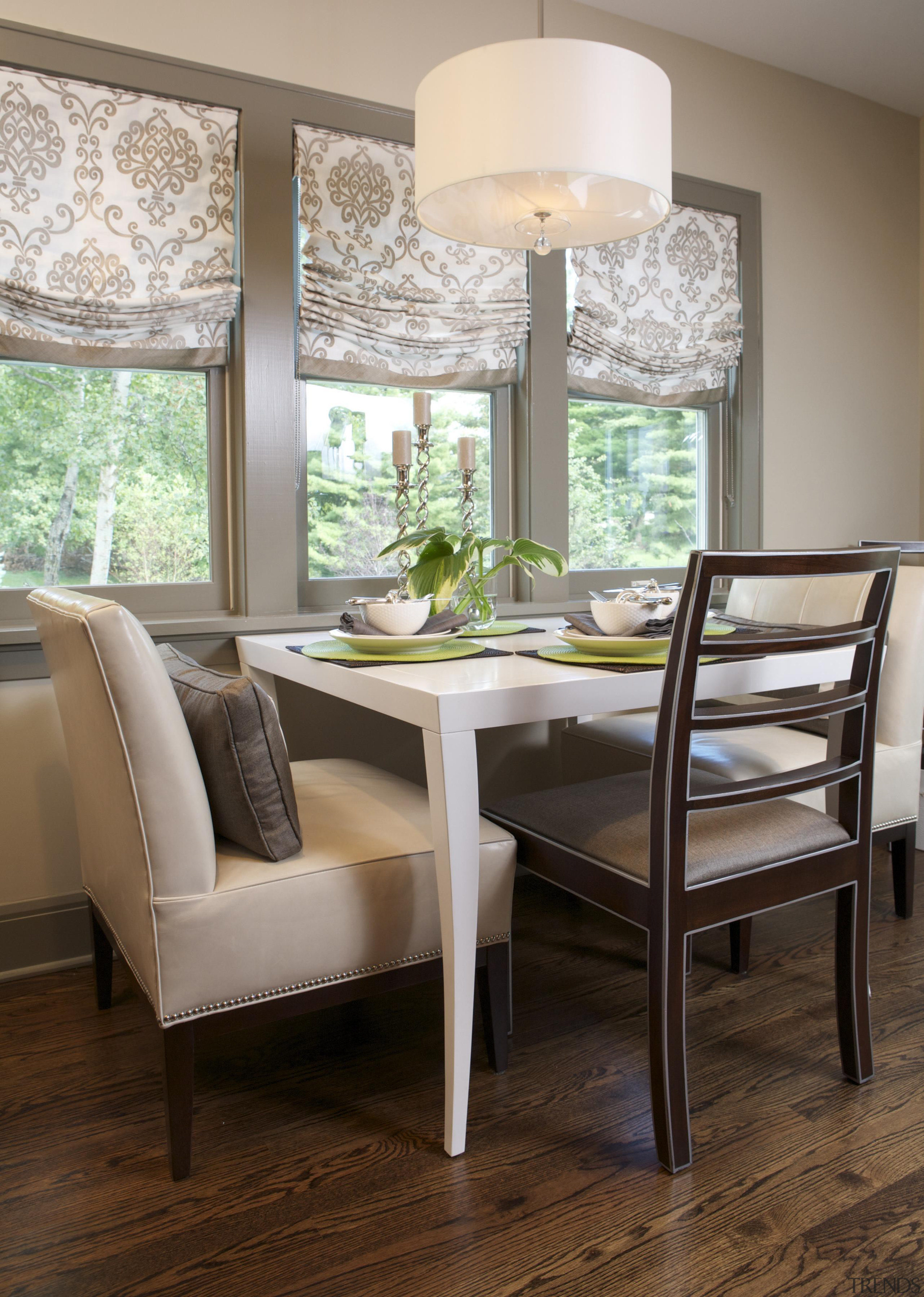 Historic Bungalow Renovation - Breakfast Area - chair chair, dining room, floor, furniture, home, interior design, living room, room, table, window, gray, brown
