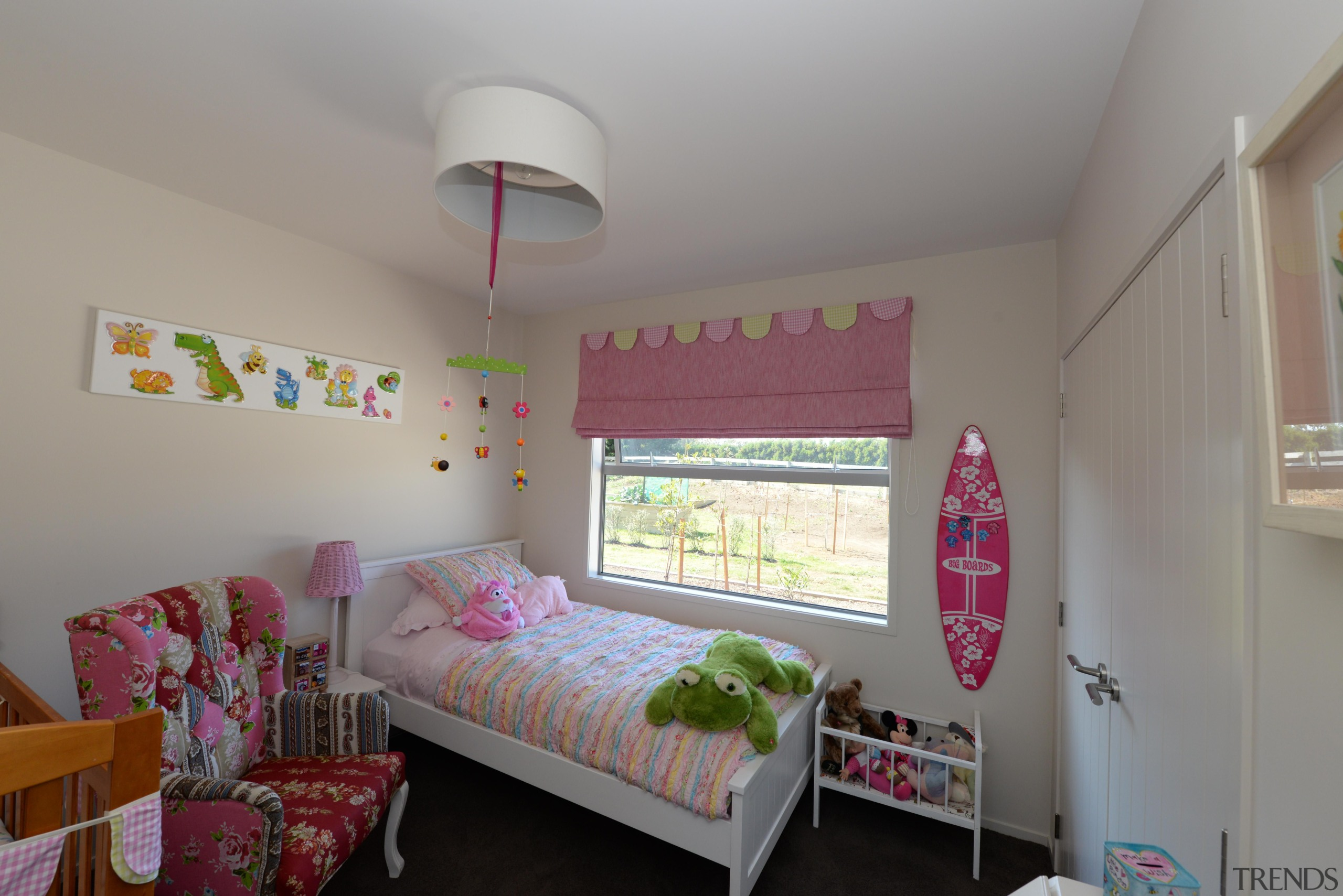 Kids bedroomBuilt by Fowler Homes TaranakiFor more information, bed, bedding, bedroom, ceiling, dormitory, home, house, interior design, product, property, real estate, room, gray