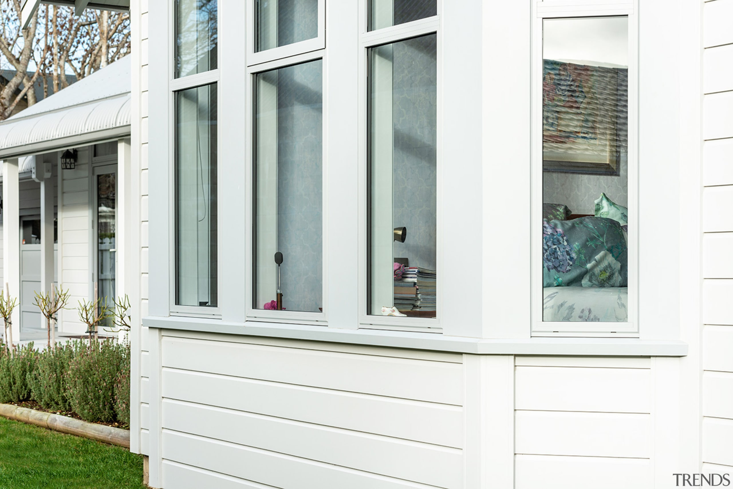Envira Timber Window Sills Complete The Classic Villa door, facade, home, house, porch, siding, window, white