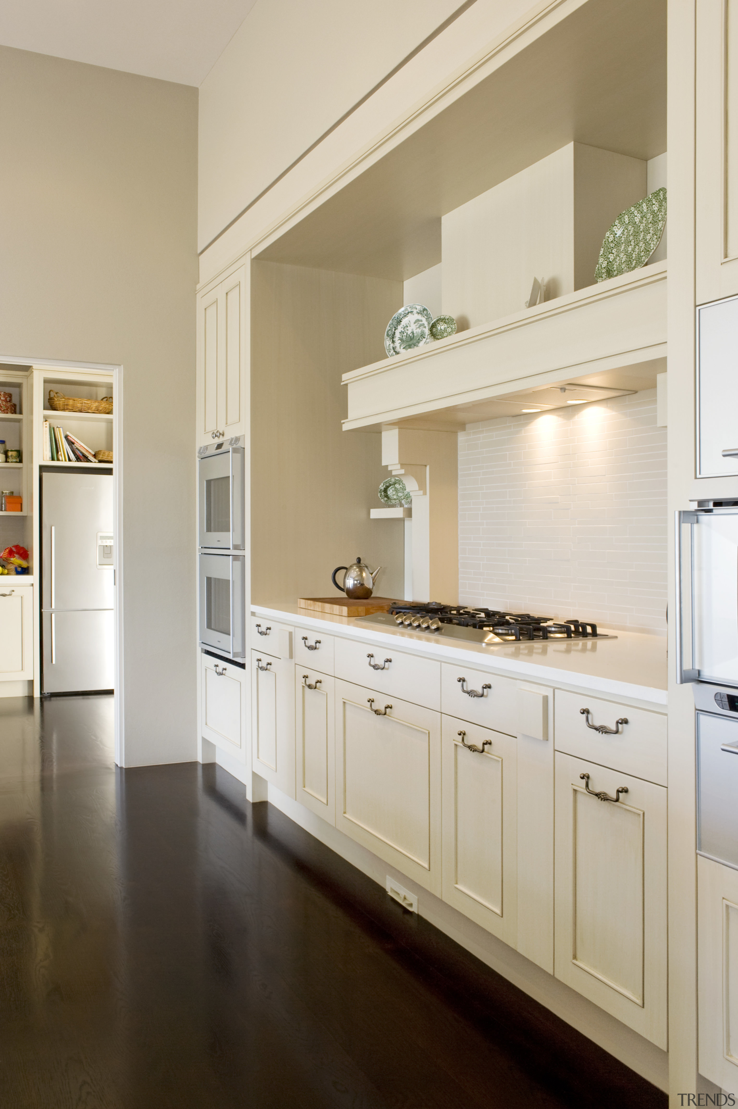 Image of the kitchen designed by Fyfe kitchens cabinetry, countertop, cuisine classique, floor, home, home appliance, interior design, kitchen, room, gray