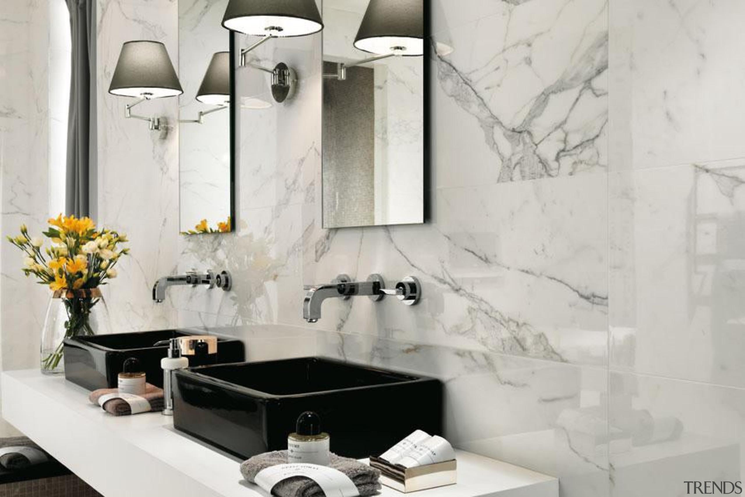 Marvel calacatta bathroom wall tiles - Cb 531375050107944 bathroom, ceramic, floor, flooring, interior design, plumbing fixture, product design, room, sink, tap, tile, wall, gray