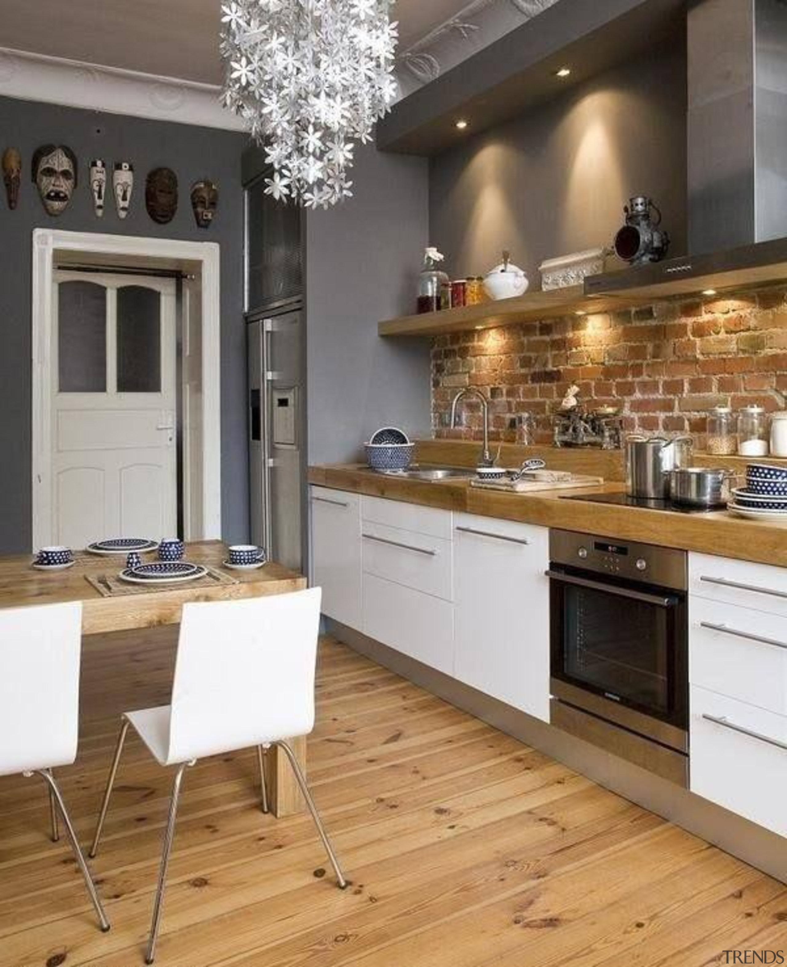 Start a myTrends ProjectCreate an ideas hub for cabinetry, countertop, cuisine classique, floor, flooring, interior design, kitchen, room, gray