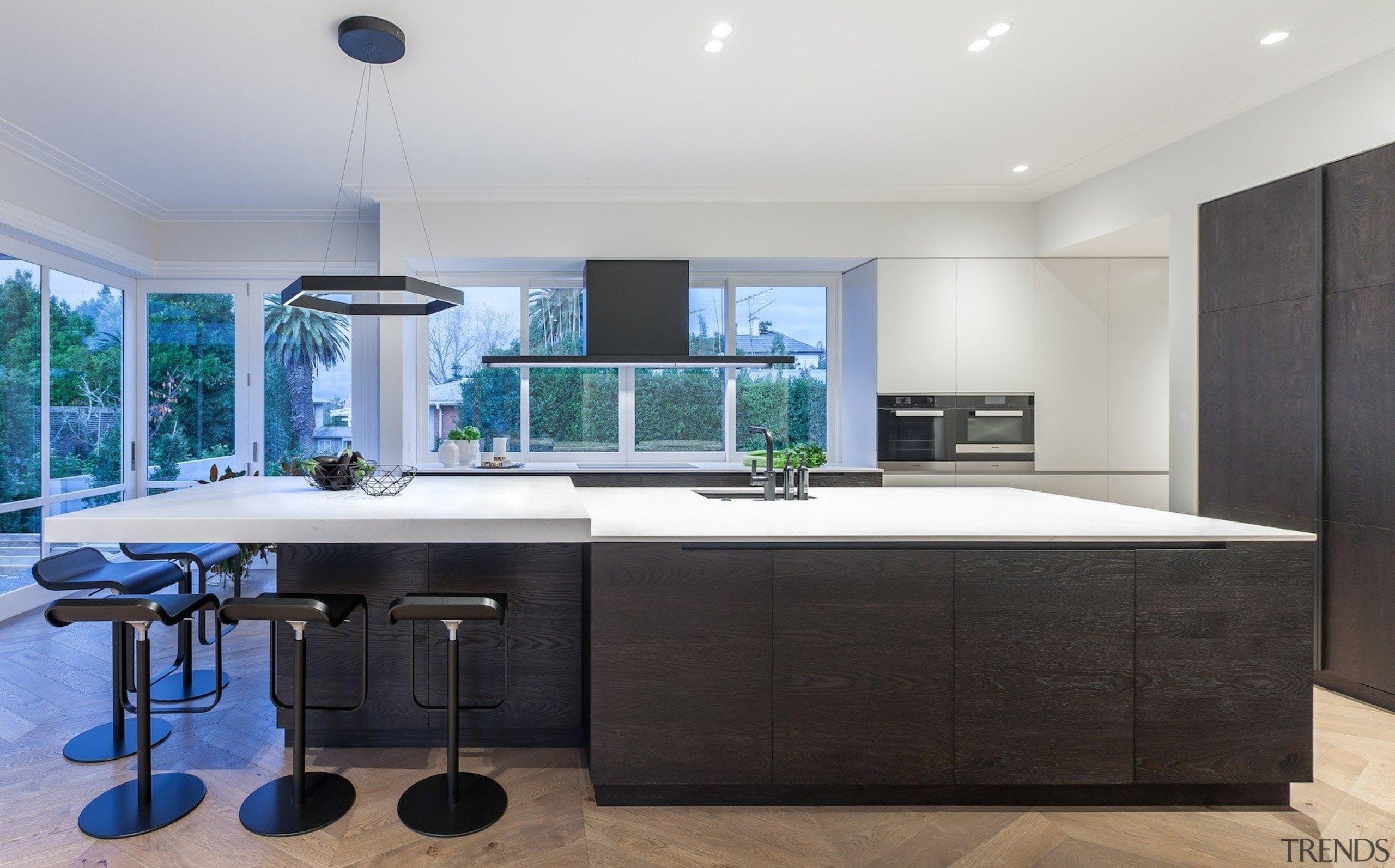 Cronin Kitchens – TIDA New Zealand Designer countertop, interior design, kitchen, real estate, room, black, white