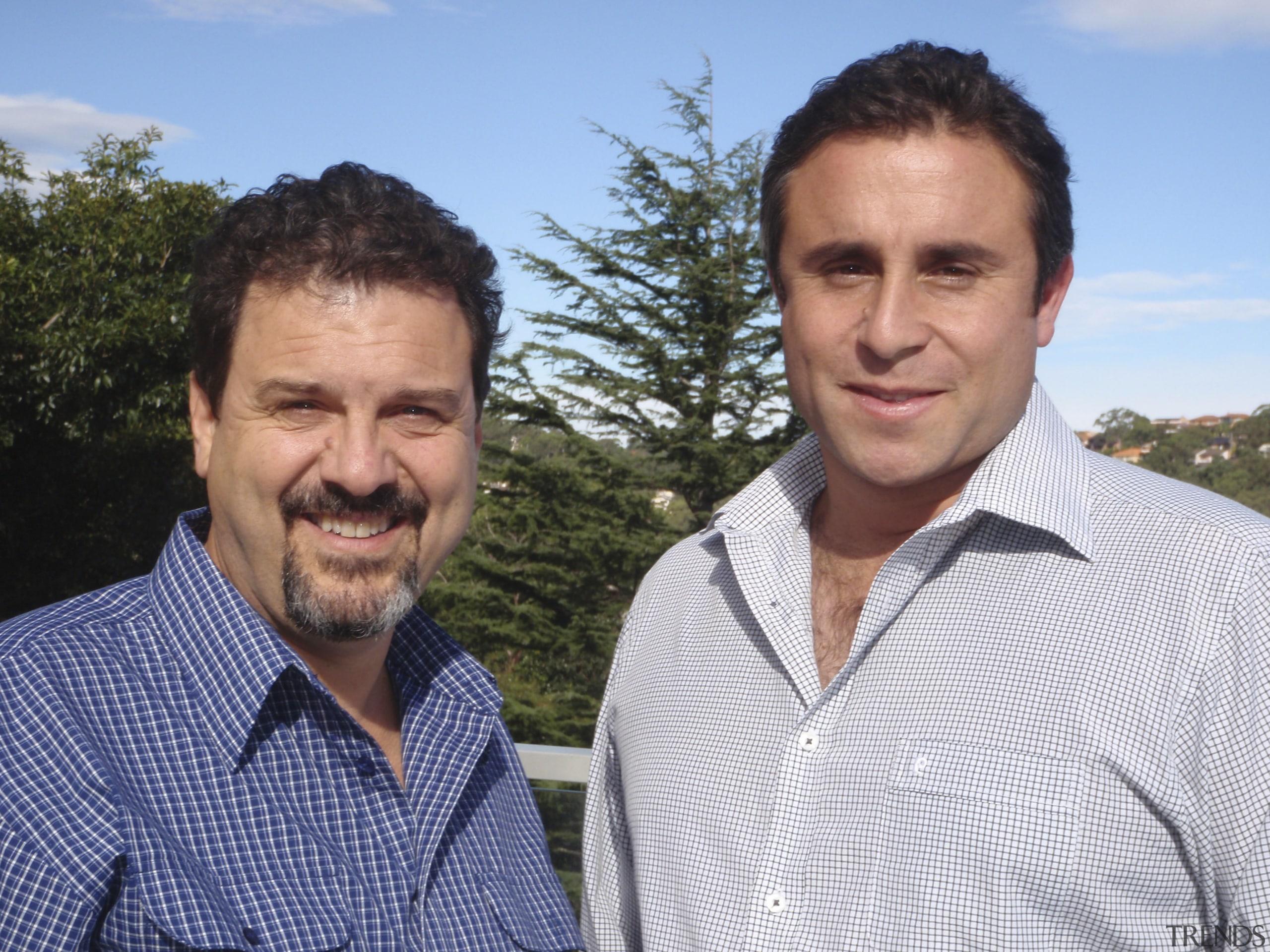 Nino Sanzari and Jon Vithoulka are Managing Directors grass, male, man, person, plant, professional, tree