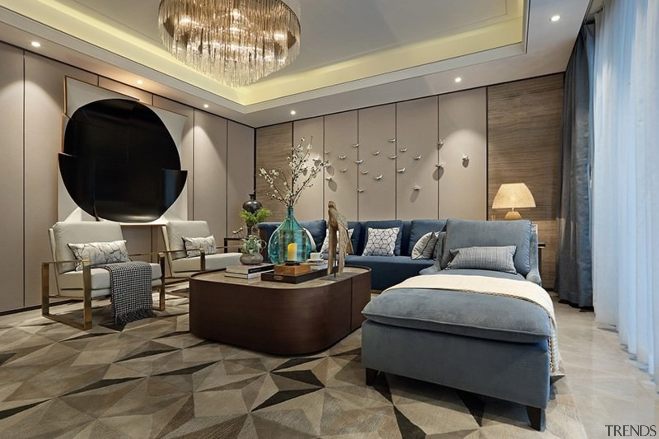 Designer: Li Jianmei Photography by Jianghe Architectural Photography ceiling, floor, interior design, living room, room, gray