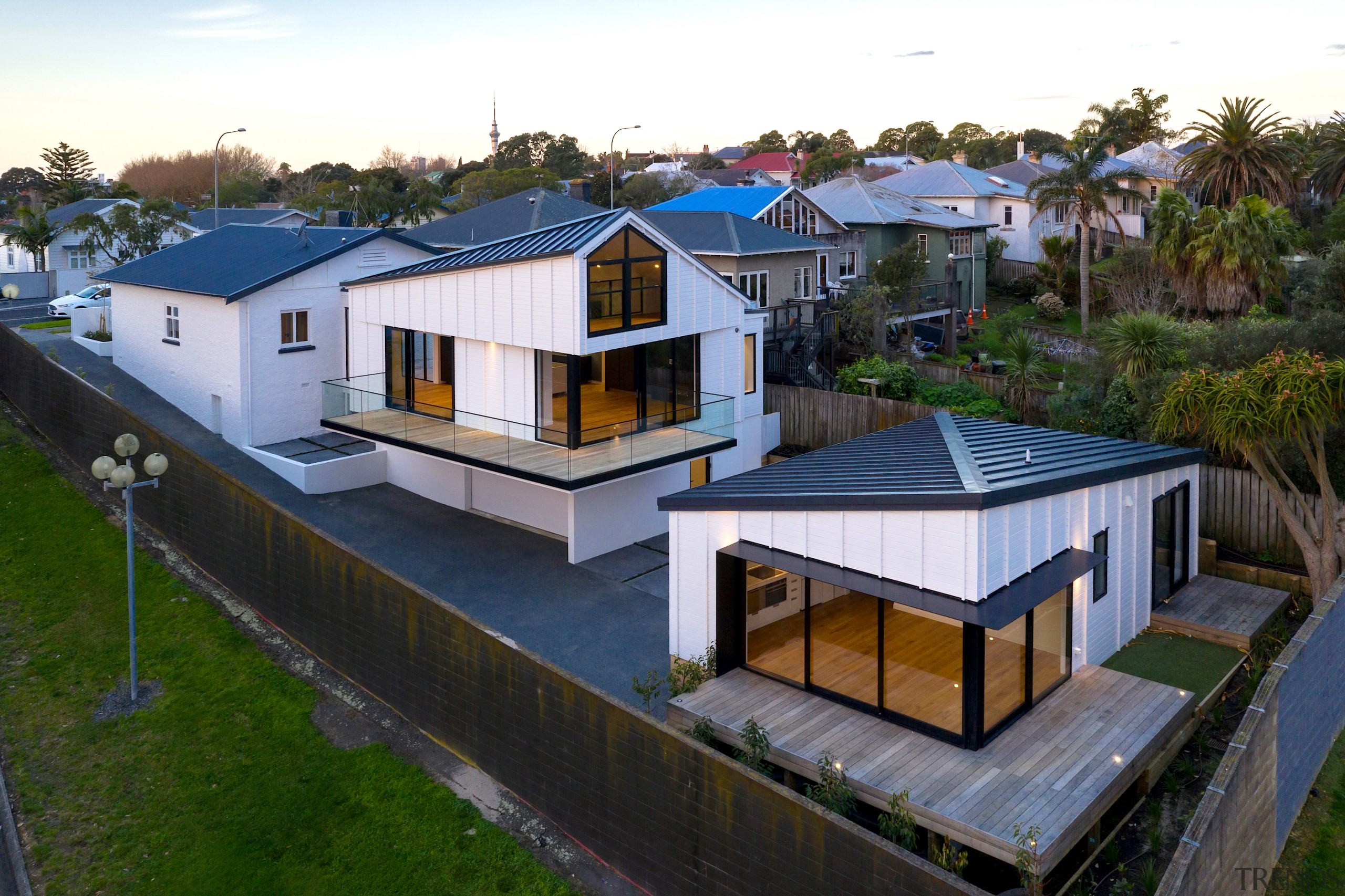 Michael Cooper Architects – Runner-up – 2019 TIDA architecture, building, cottage, estate, facade, home, house, land lot, property, real estate, residential area, roof