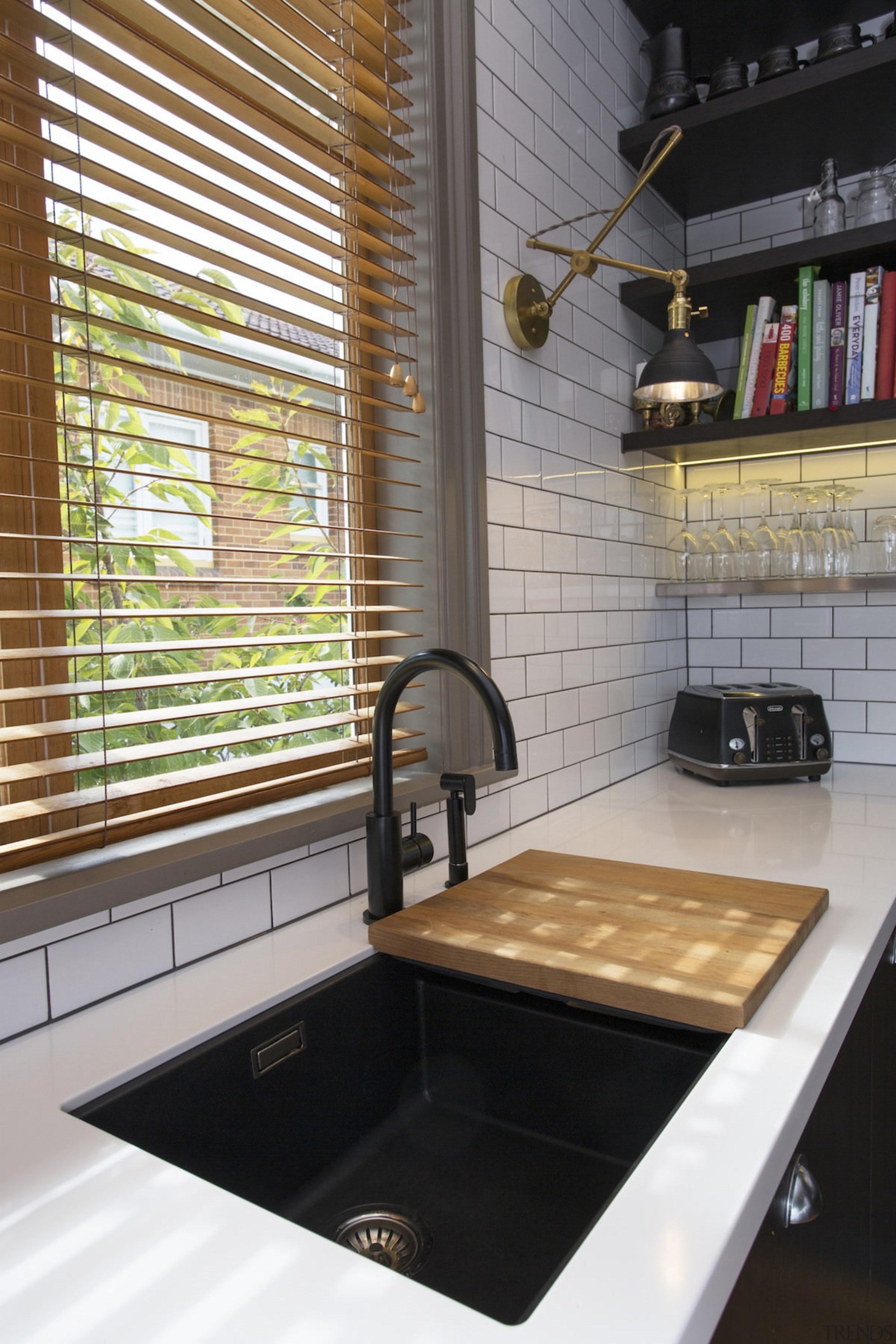 Easy food prep with a breadboard - Easy bathroom, countertop, flooring, interior design, kitchen, room, sink, tile, gray