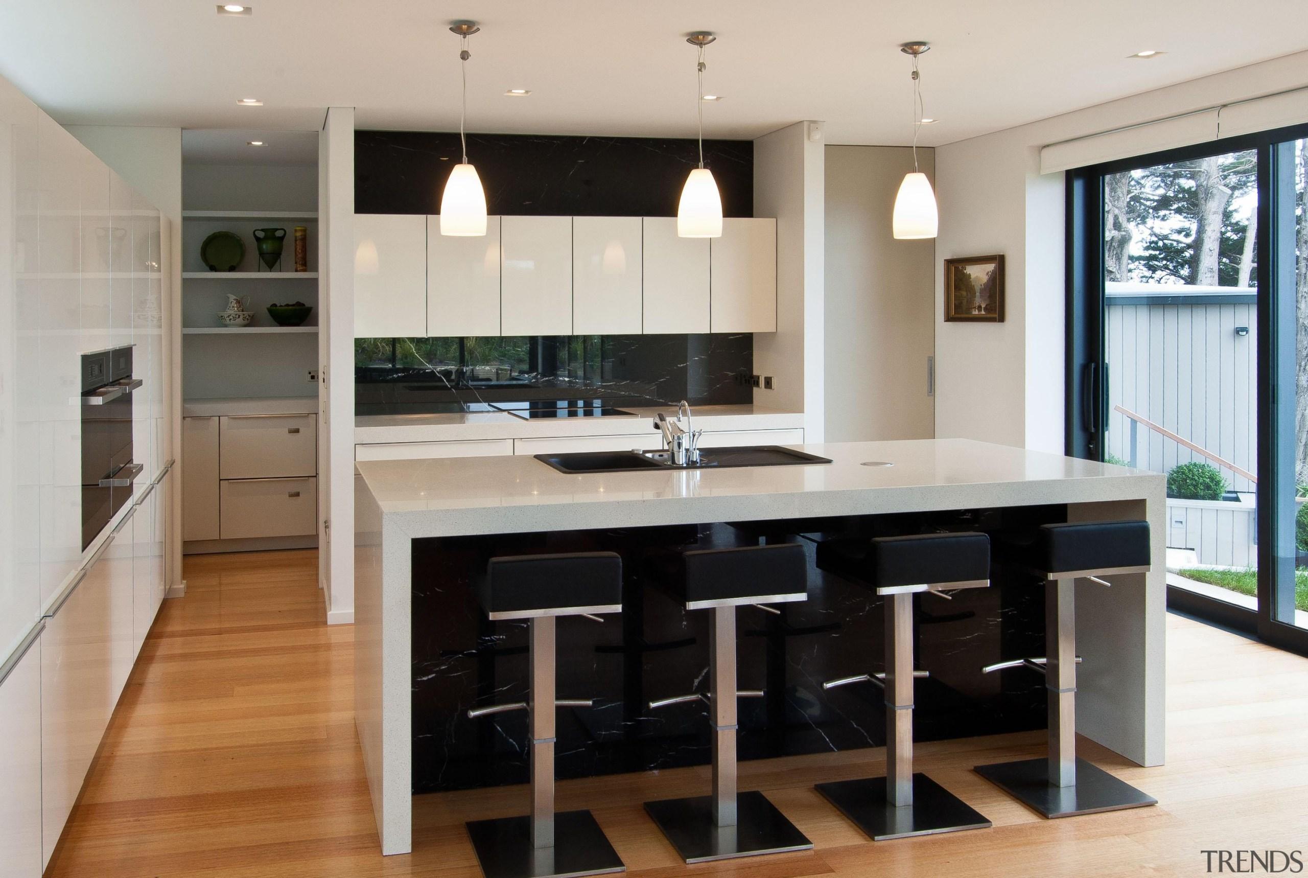 Khandallah Kitchen - Khandallah Kitchen - cabinetry | cabinetry, countertop, cuisine classique, floor, flooring, interior design, kitchen, room, wood flooring, gray