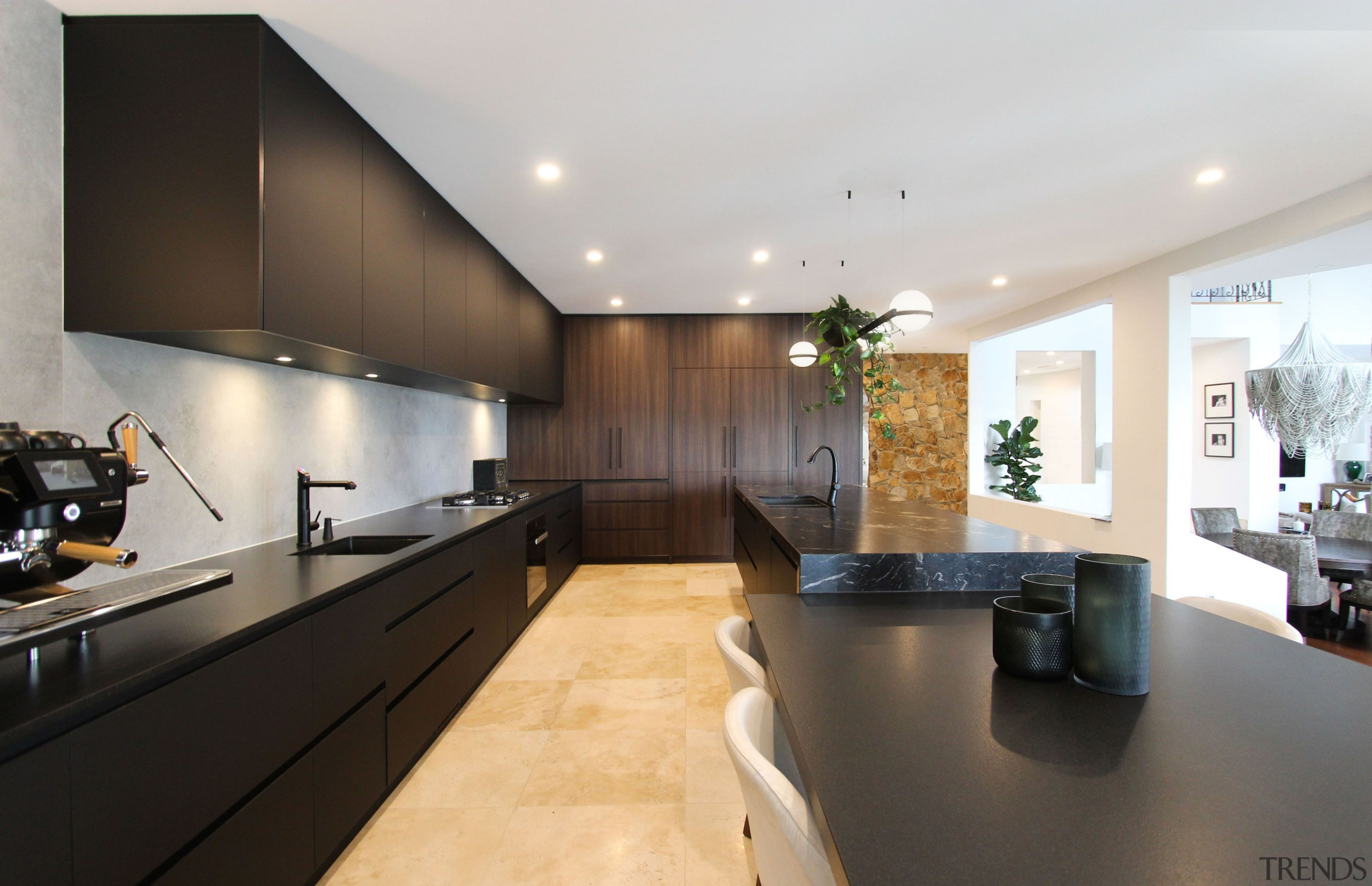 Equipped with cutting-edge fixtures and appliances, this renovation
