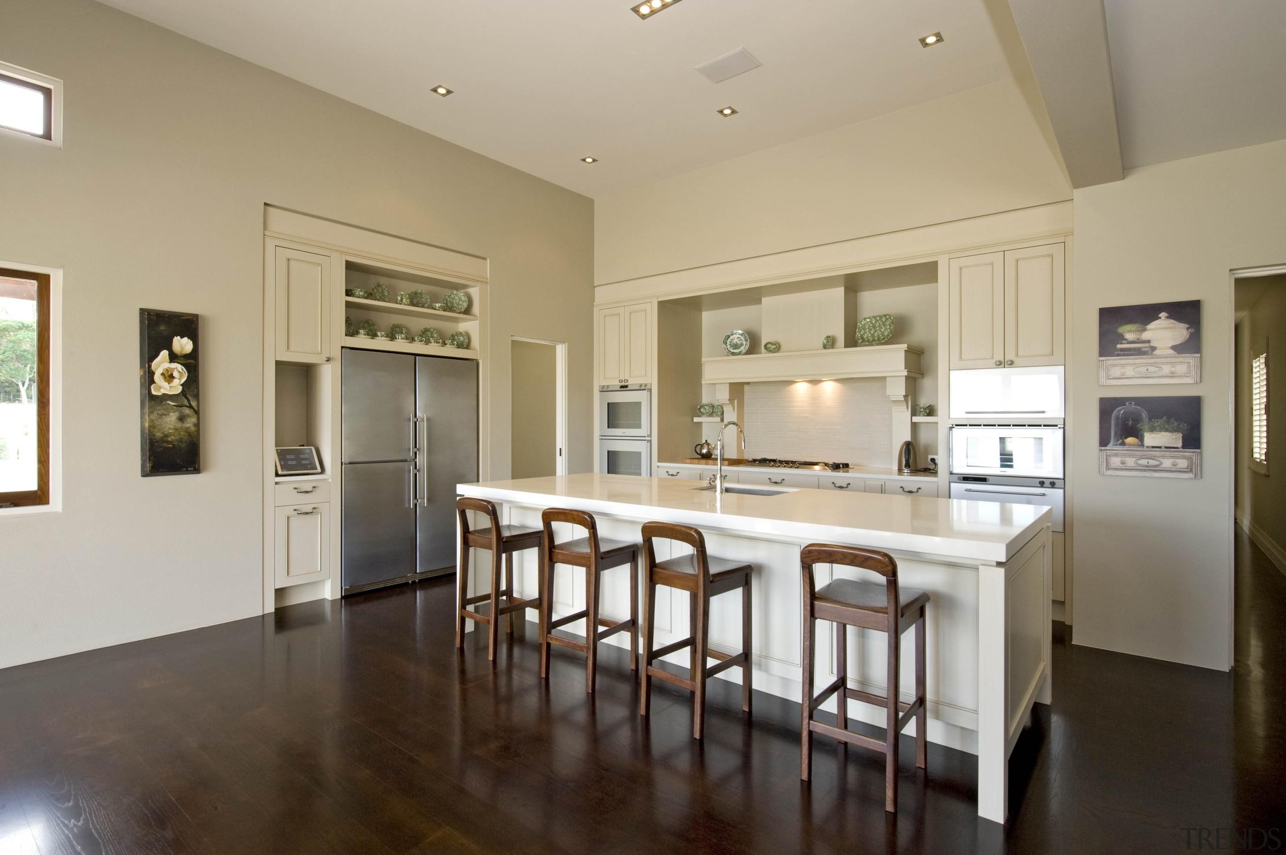 Karaka - countertop | floor | flooring | countertop, floor, flooring, home, interior design, kitchen, property, real estate, room, orange