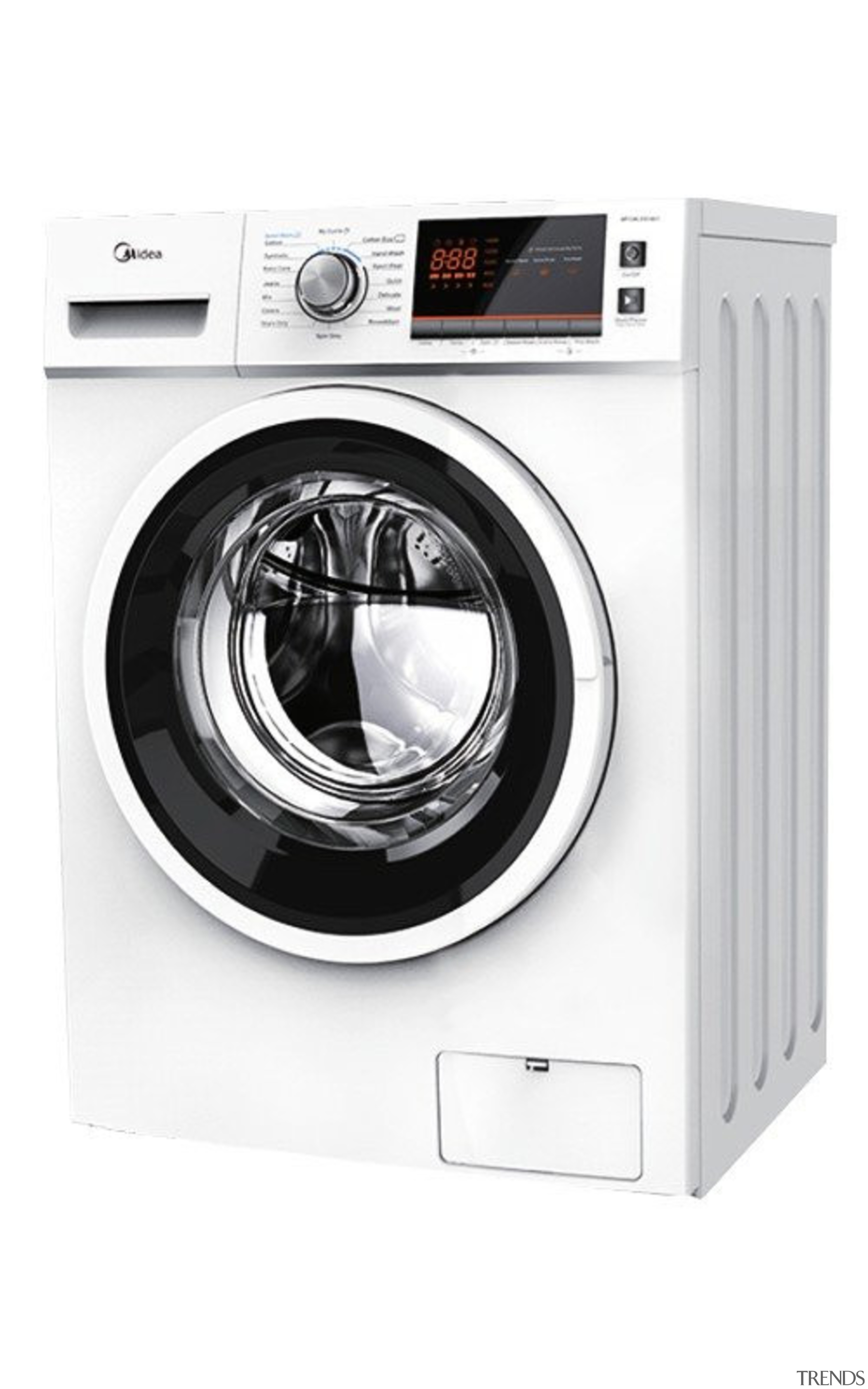 7.5 Kg Front Load Washing MachineCapacity: 7.5Kg16 Programs, clothes dryer, home appliance, laundry, major appliance, product, washing machine, white