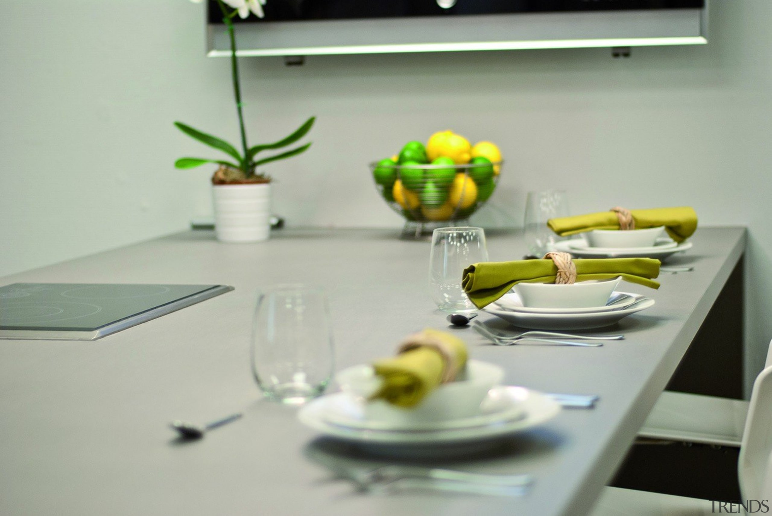 Cement - dining room   furniture   interior dining room, furniture, interior design, table, tableware, yellow, gray