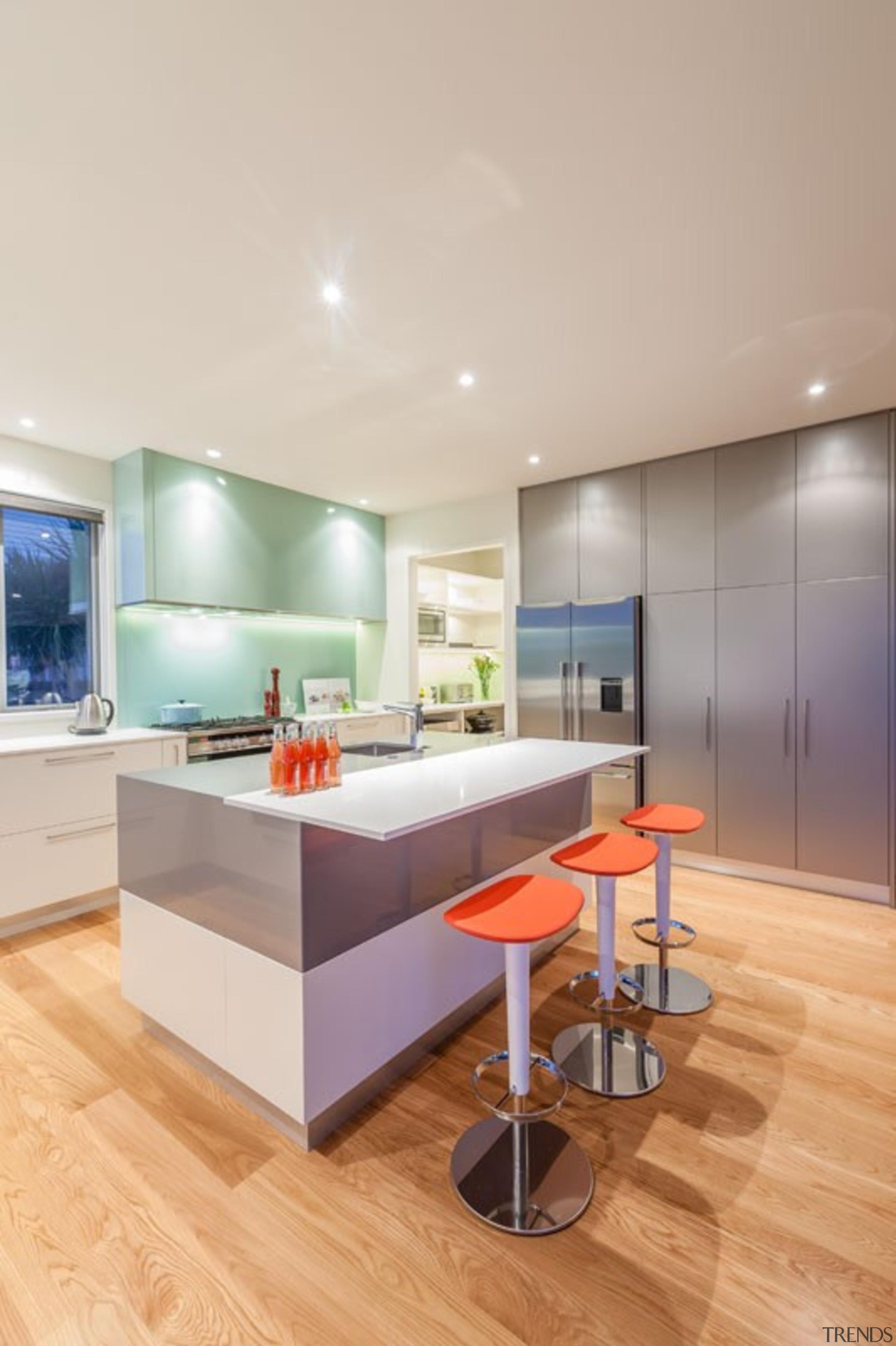 Tropical Kitchen - Tropical Kitchen - architecture   architecture, ceiling, countertop, floor, hardwood, interior design, kitchen, real estate, room, wood flooring, gray