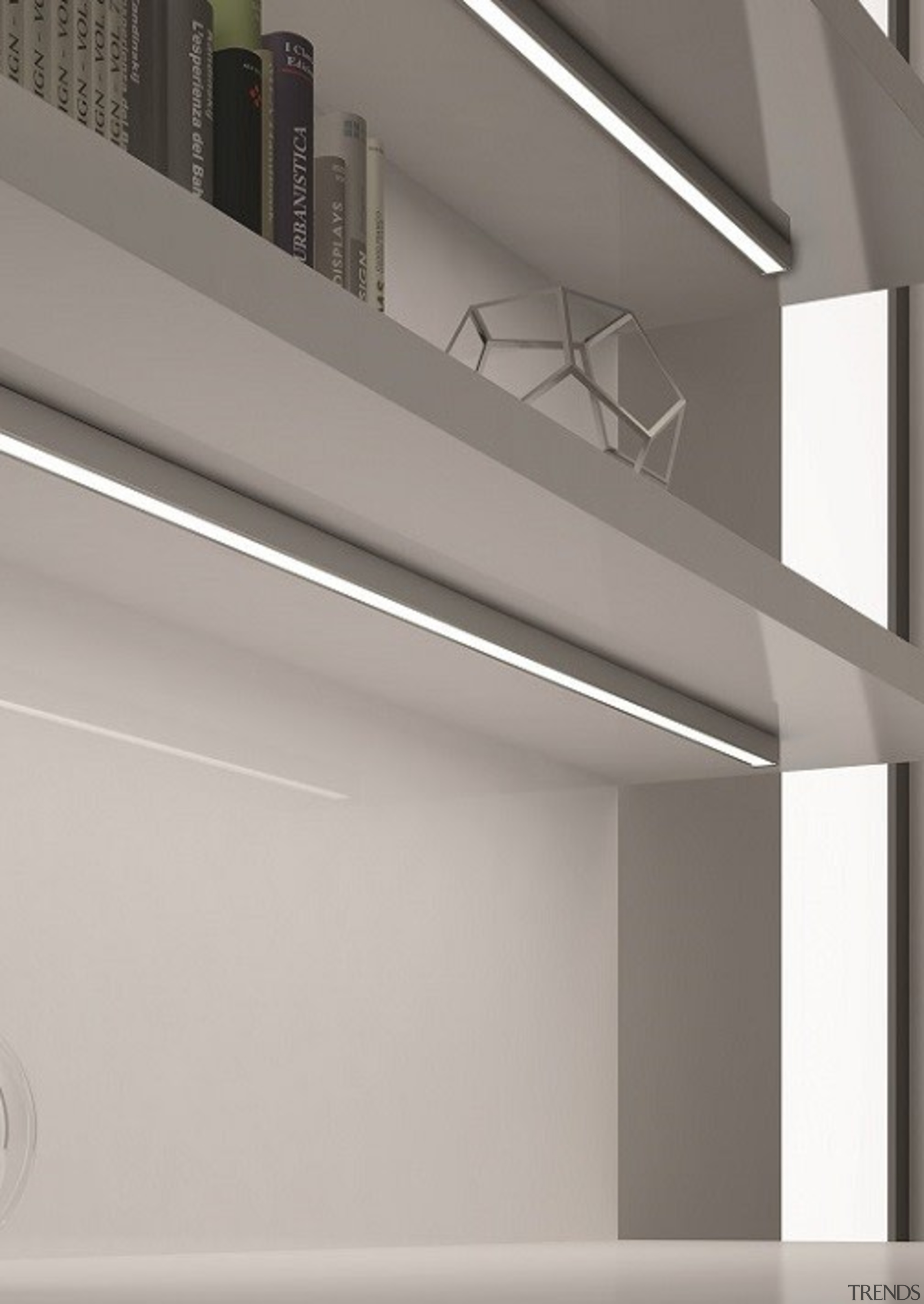 Domus Line Twig LED ProfileDesigned in Italy to angle, architecture, ceiling, daylighting, lighting, line, product design, structure, gray